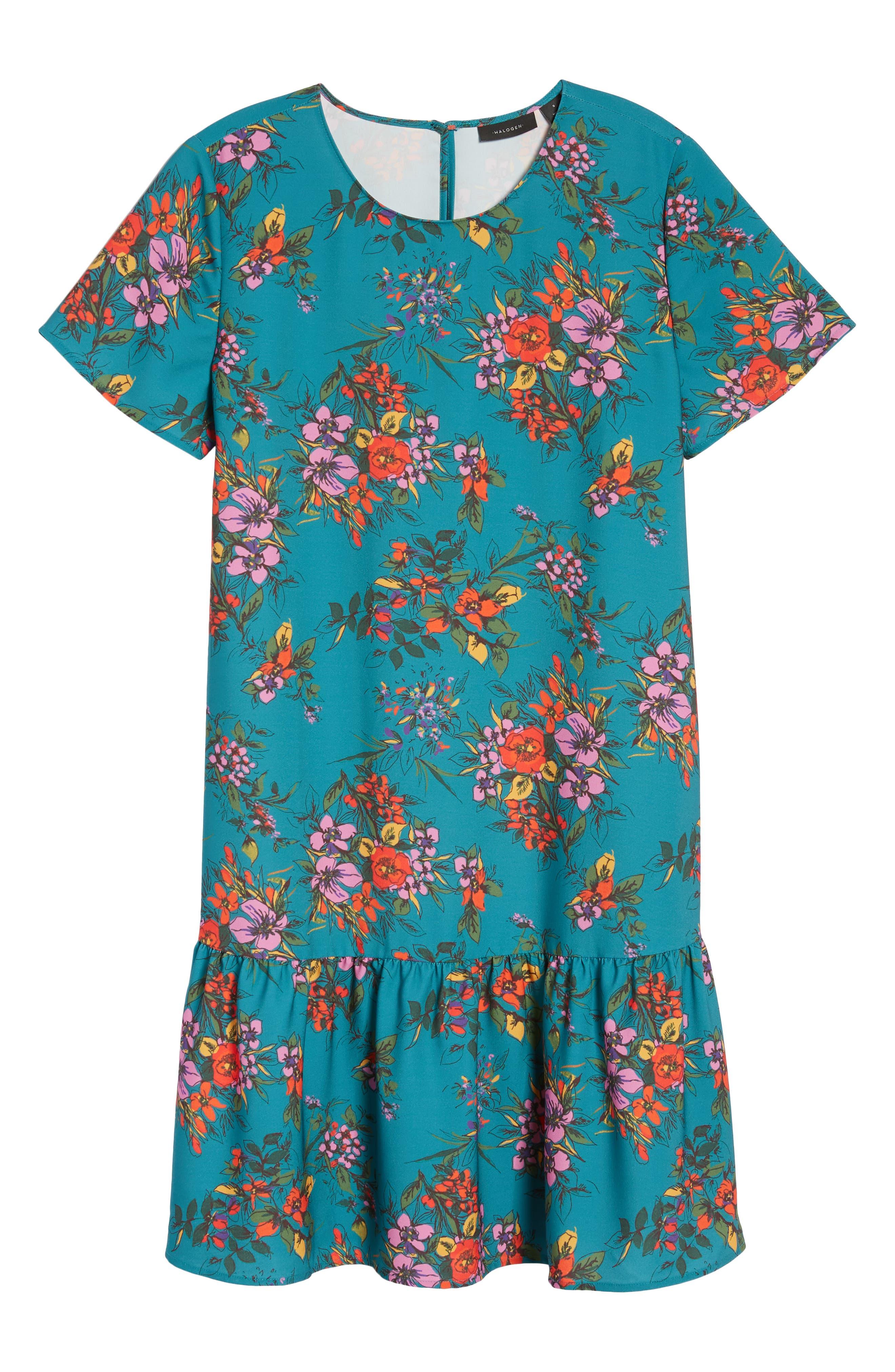 Short Sleeve Ruffle Hem Dress,                             Alternate thumbnail 35, color,