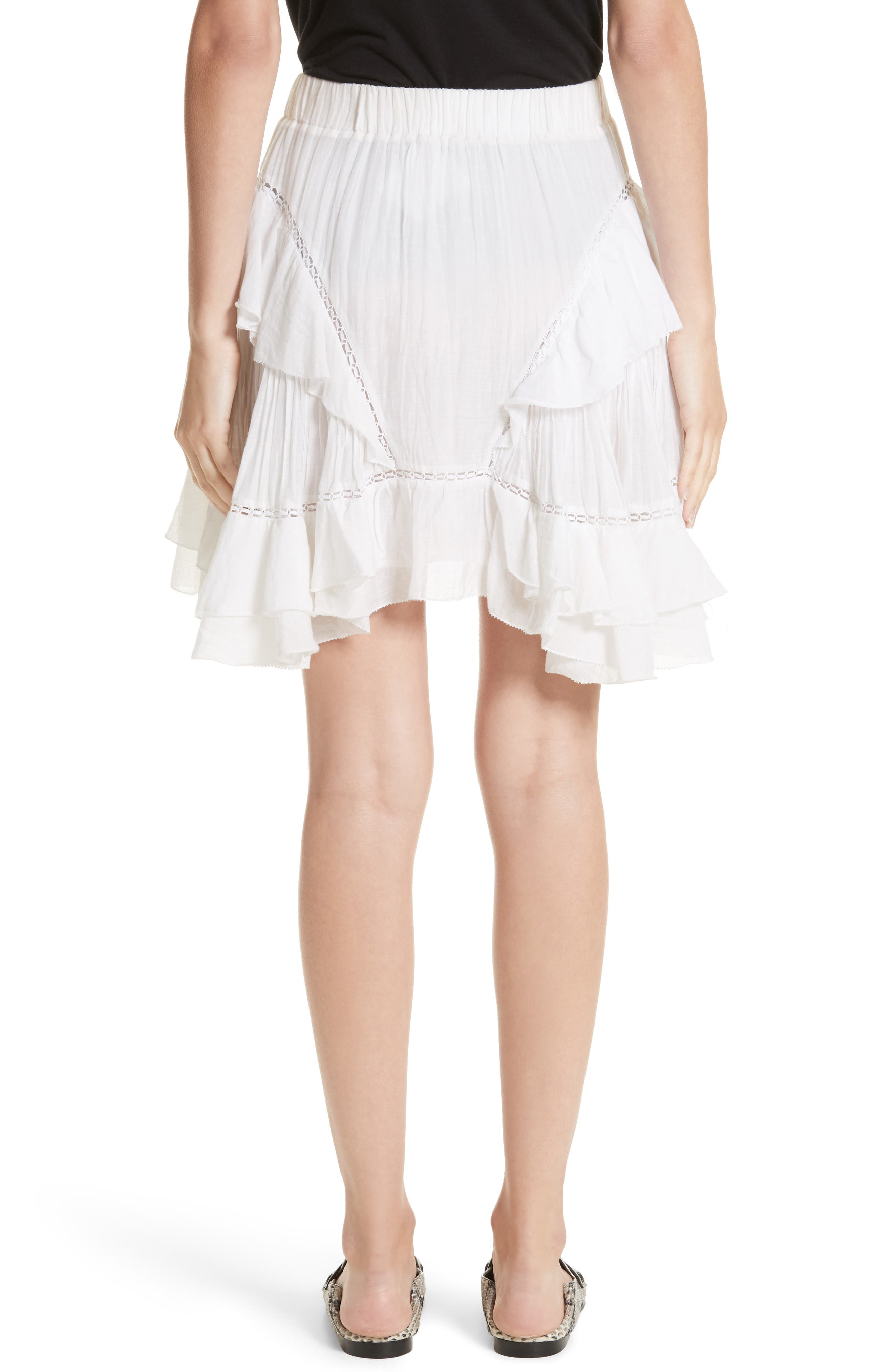 Isabel Marant Étoile Varese Ruffle Skirt,                             Alternate thumbnail 2, color,                             100