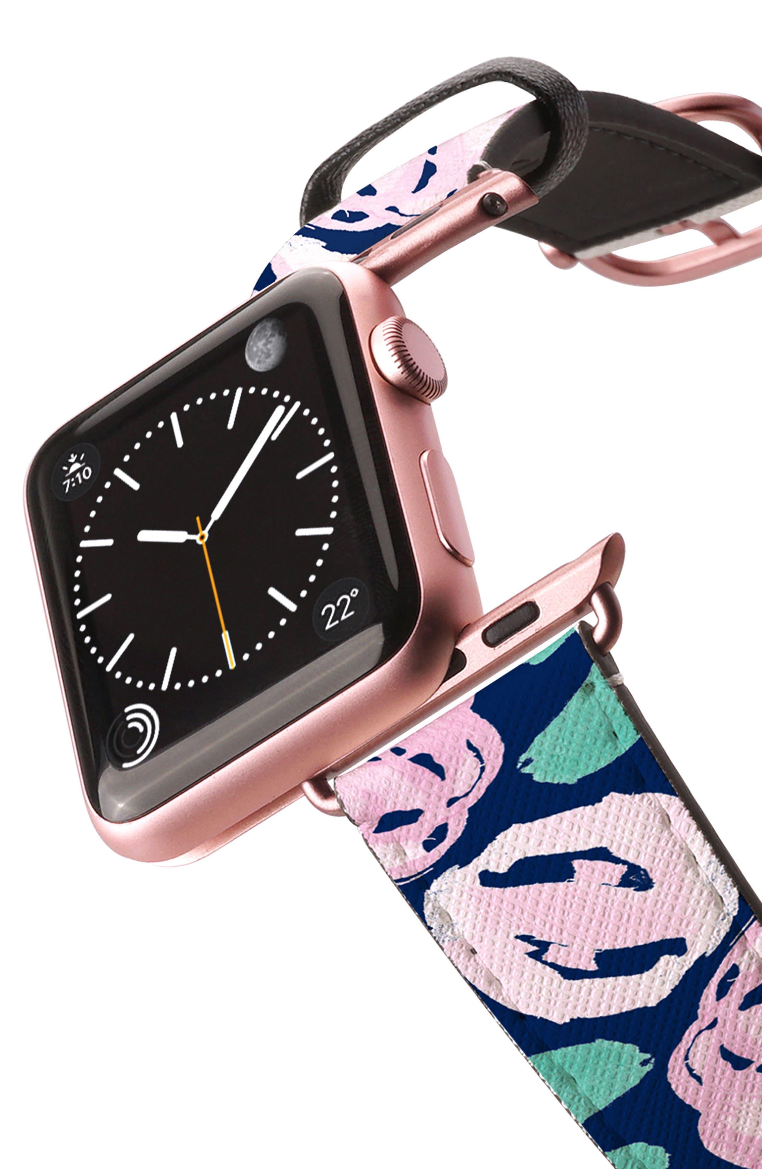 Saffiano Faux Leather Apple Watch Strap,                             Alternate thumbnail 20, color,
