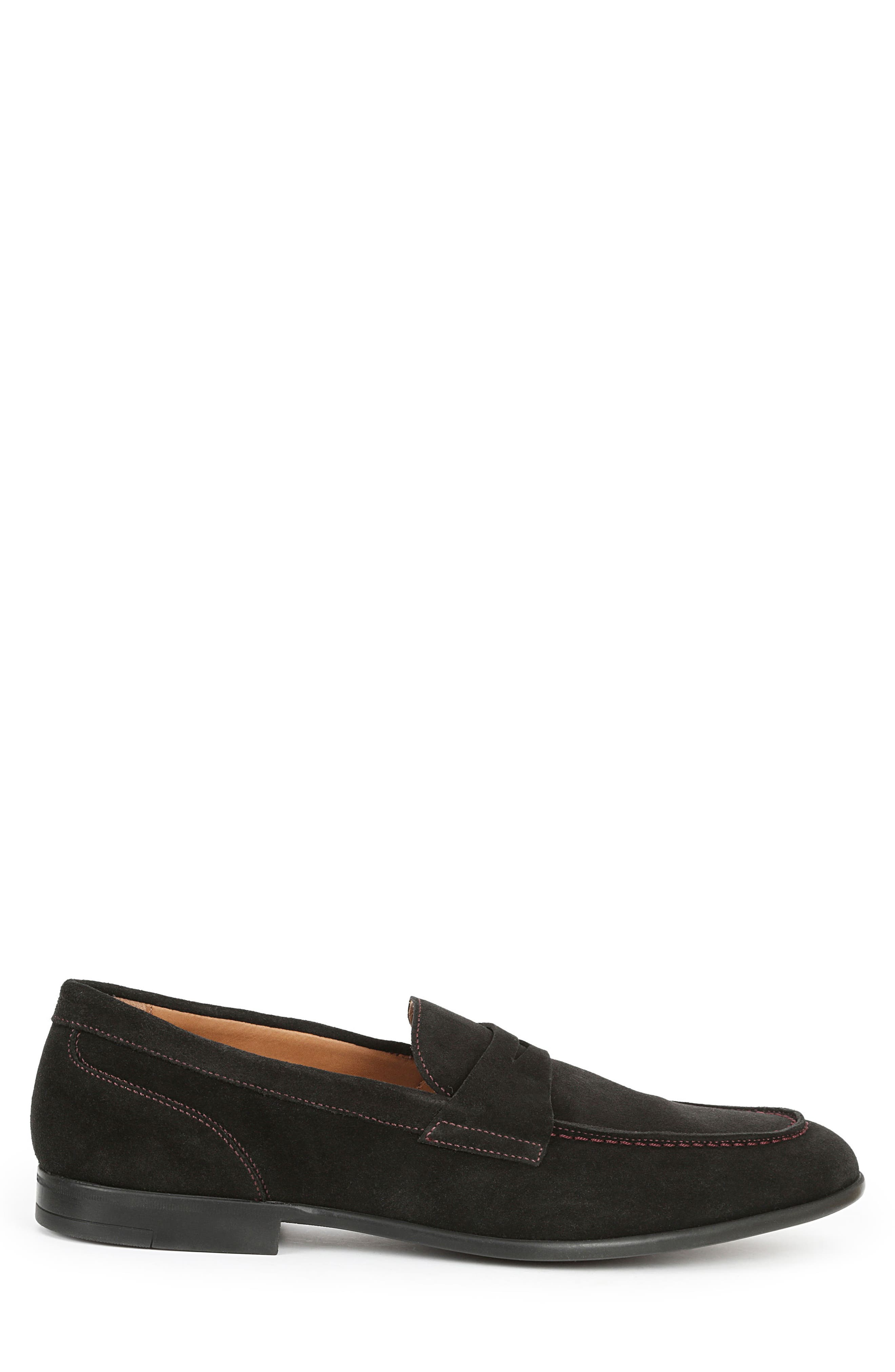 Silas Penny Loafer,                             Alternate thumbnail 3, color,                             BLACK