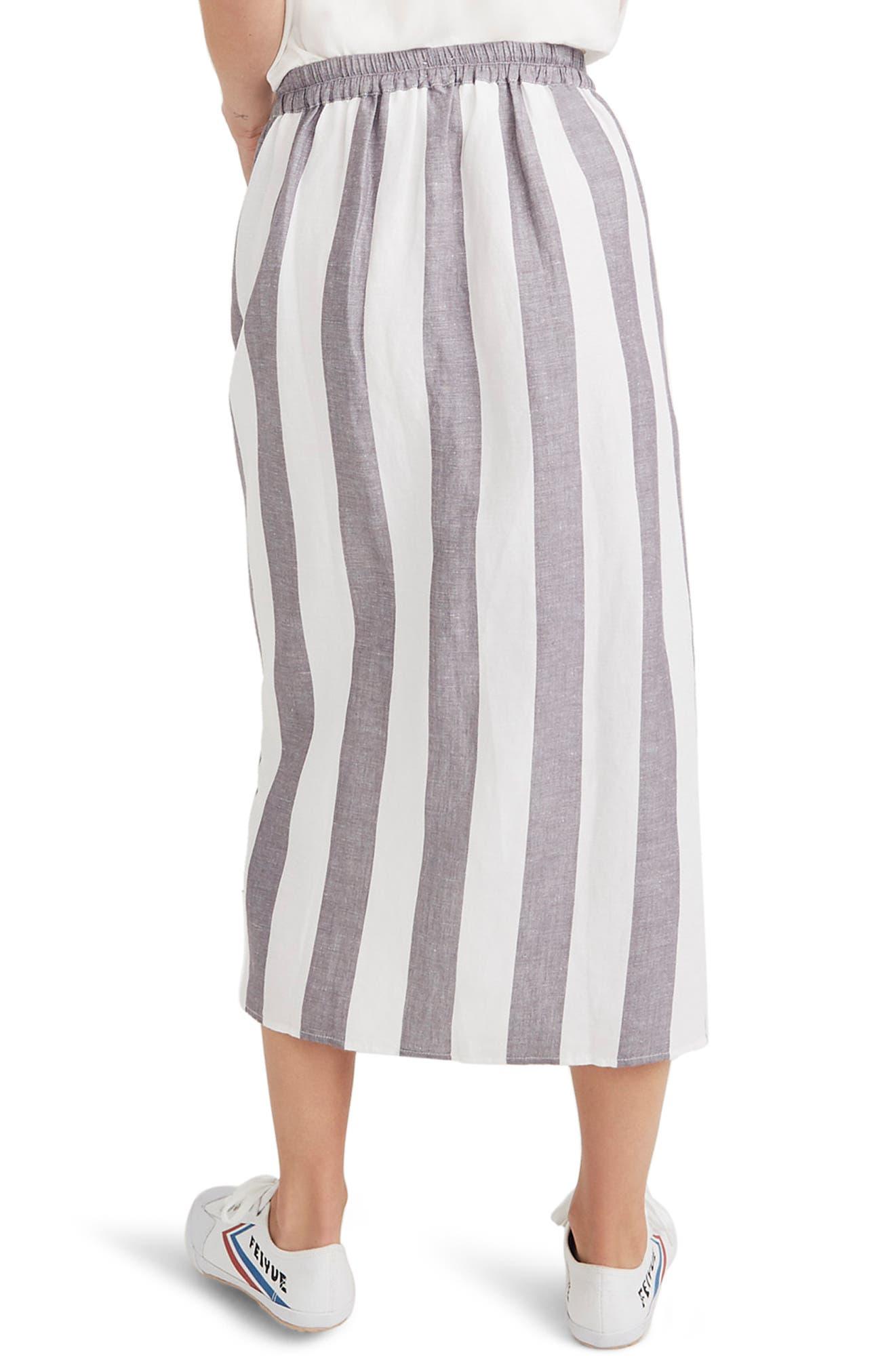 Stripe Overlay Skirt,                             Alternate thumbnail 2, color,                             020