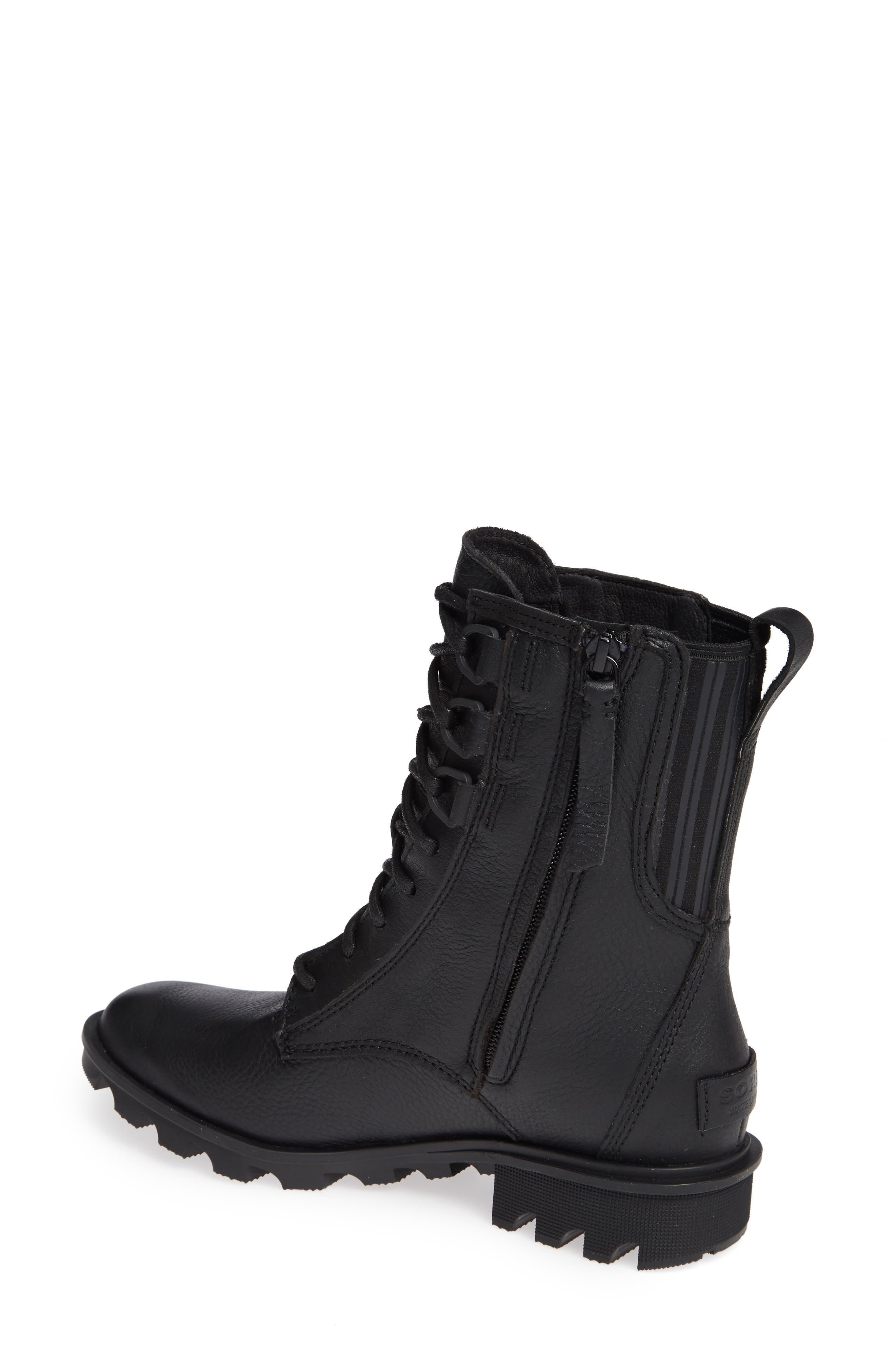 Phoenix Lace-Up Boot,                             Alternate thumbnail 2, color,                             BLACK