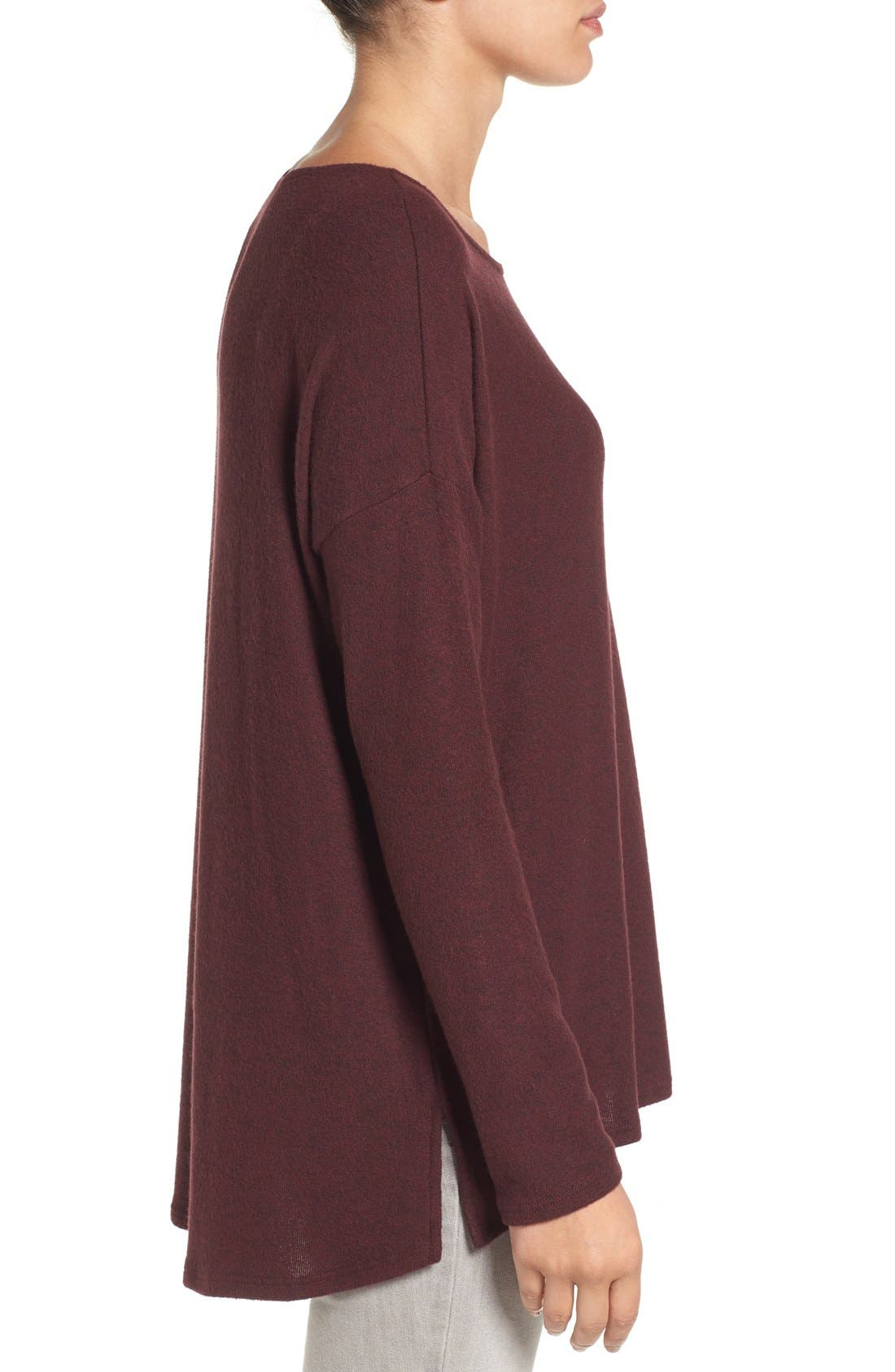 Cozy Ballet Neck High/Low Pullover,                             Alternate thumbnail 51, color,