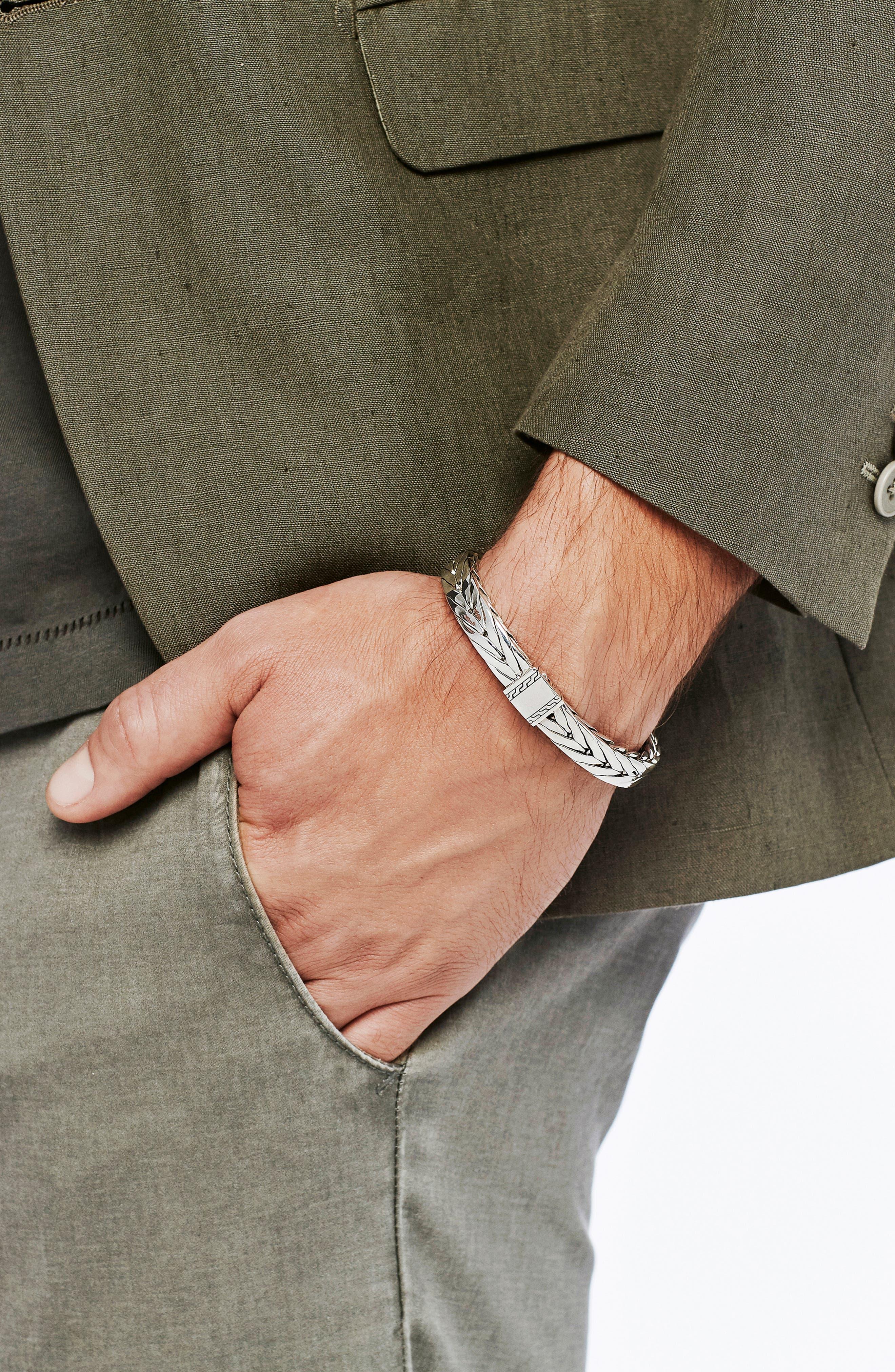 Modern Chain 9mm Bracelet,                             Alternate thumbnail 2, color,                             SILVER