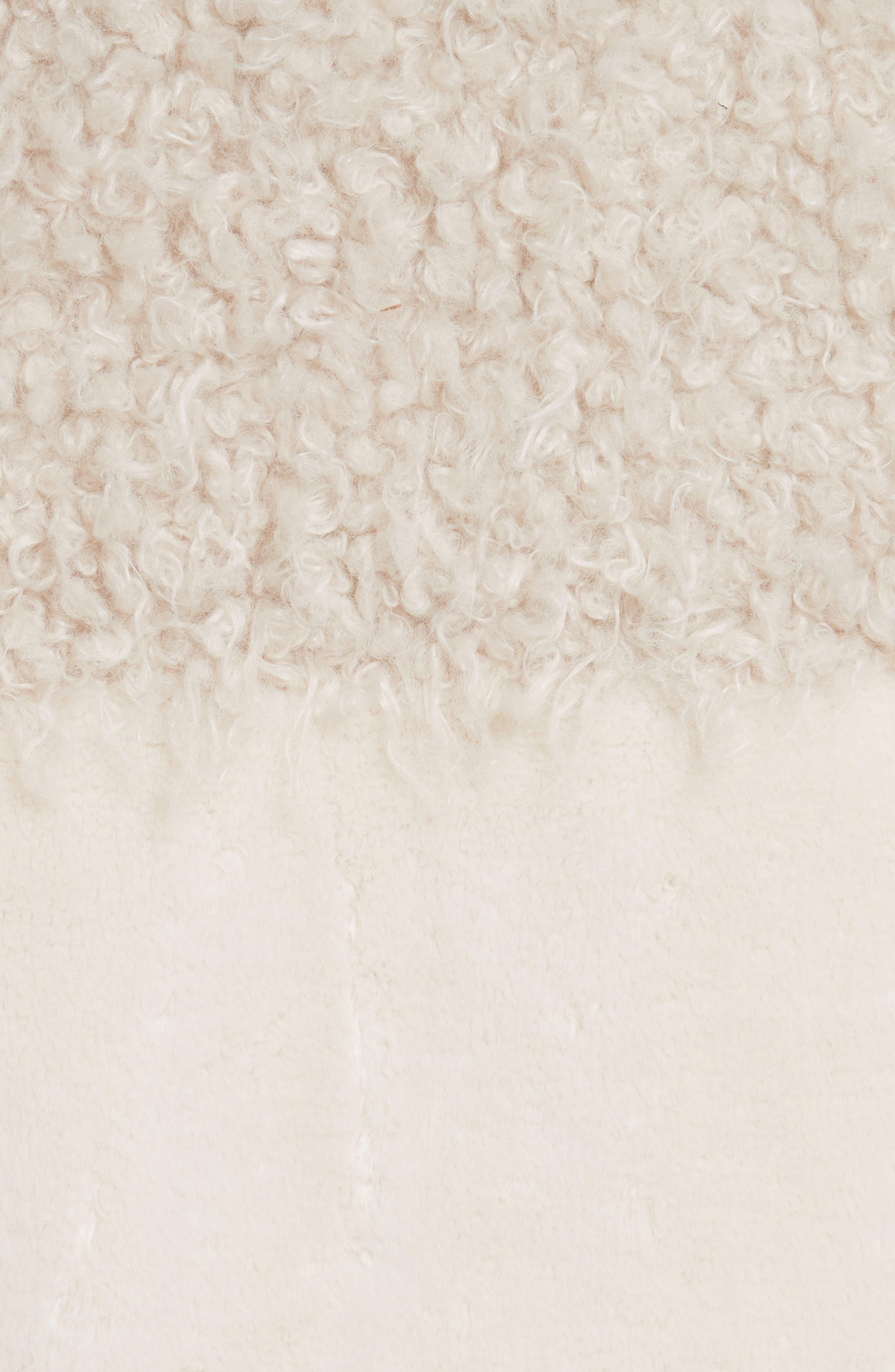 Mixed Faux Fur Coat,                             Alternate thumbnail 6, color,                             905