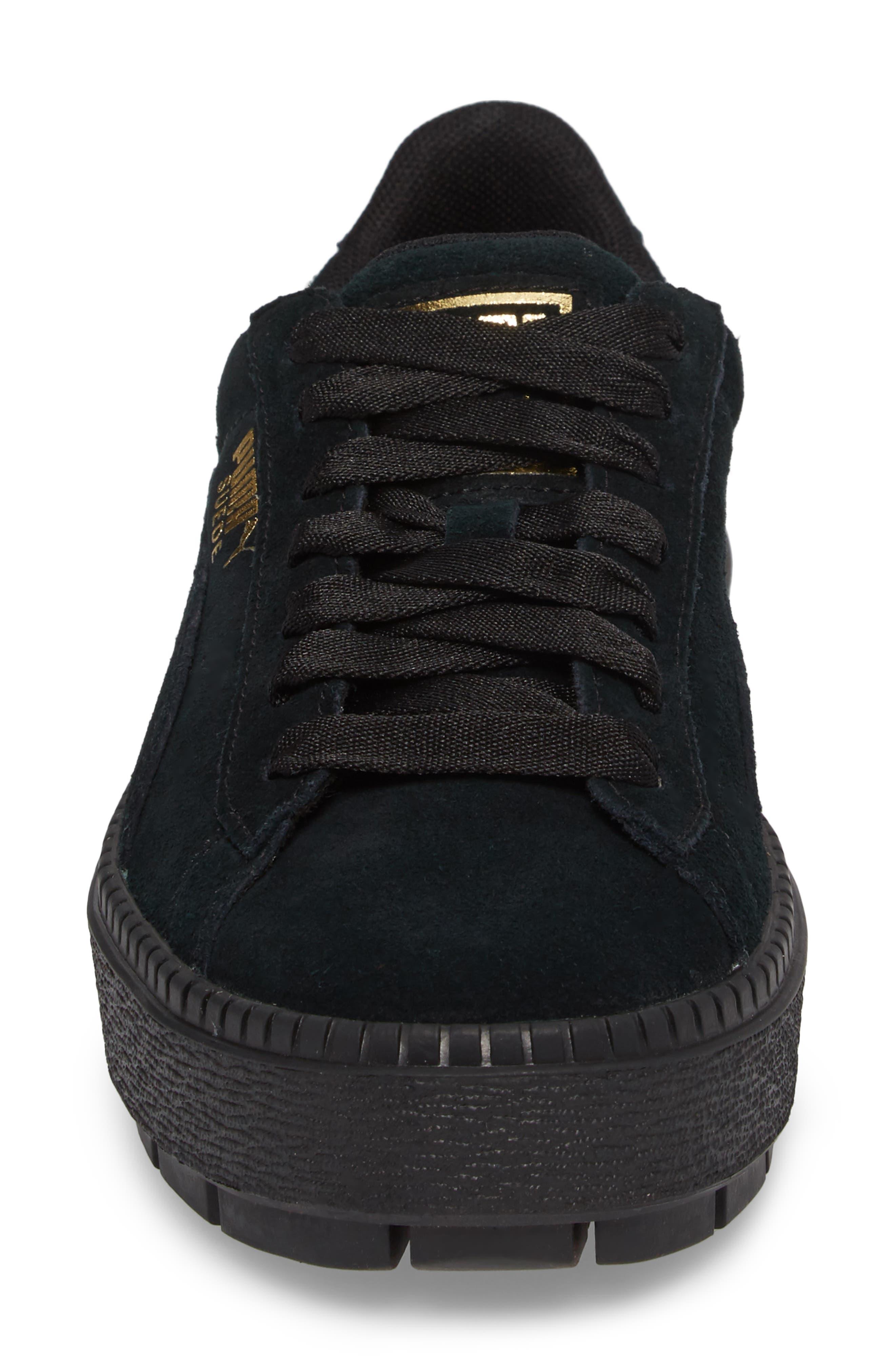 Trace Platform Sneaker,                             Alternate thumbnail 4, color,                             001