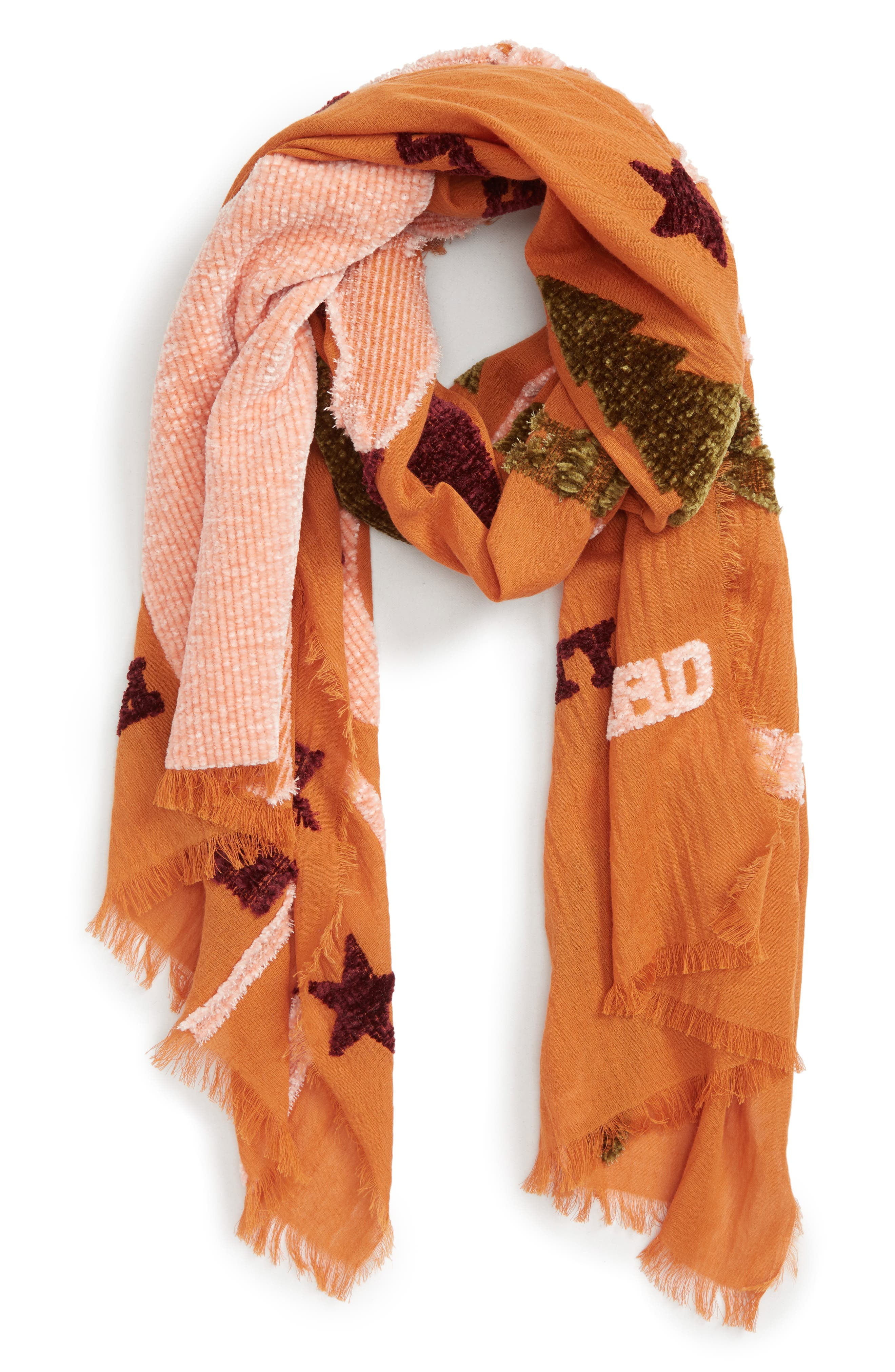New Mexico Map Chenille Scarf,                             Alternate thumbnail 2, color,                             700