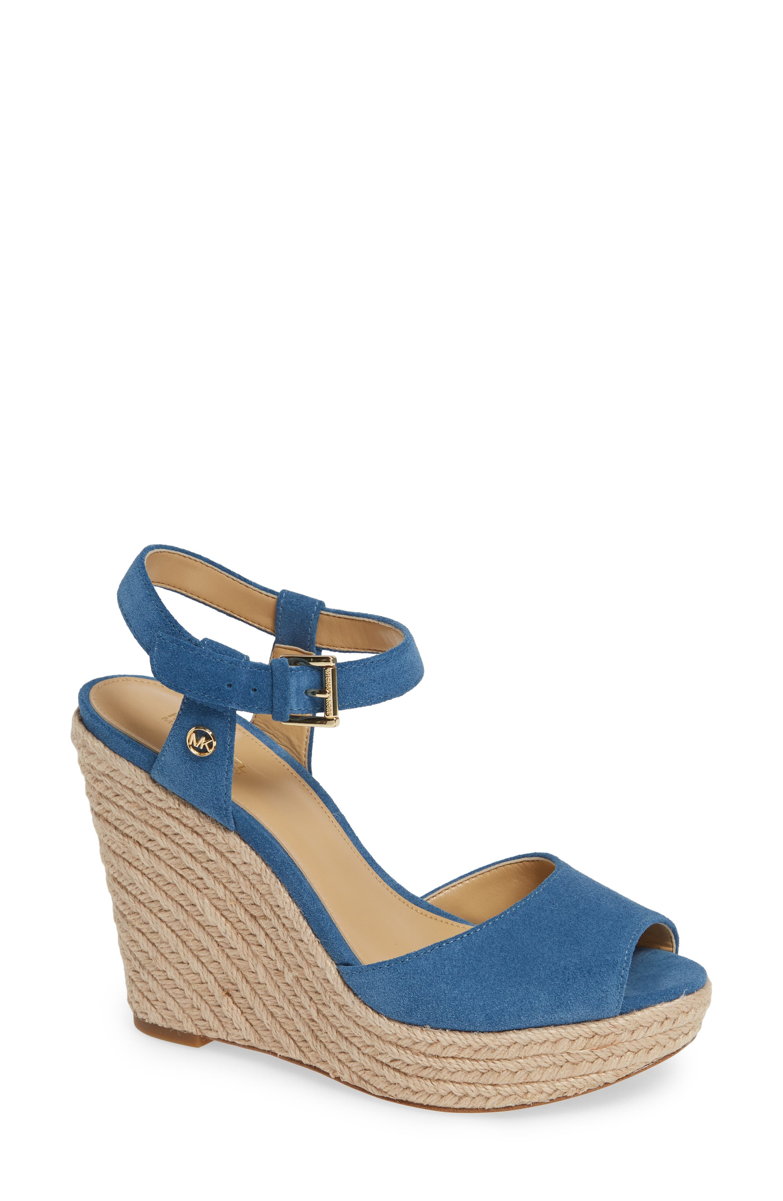 Michael Michael Kors Carlyn Espadrille Wedge Sandal, Blue