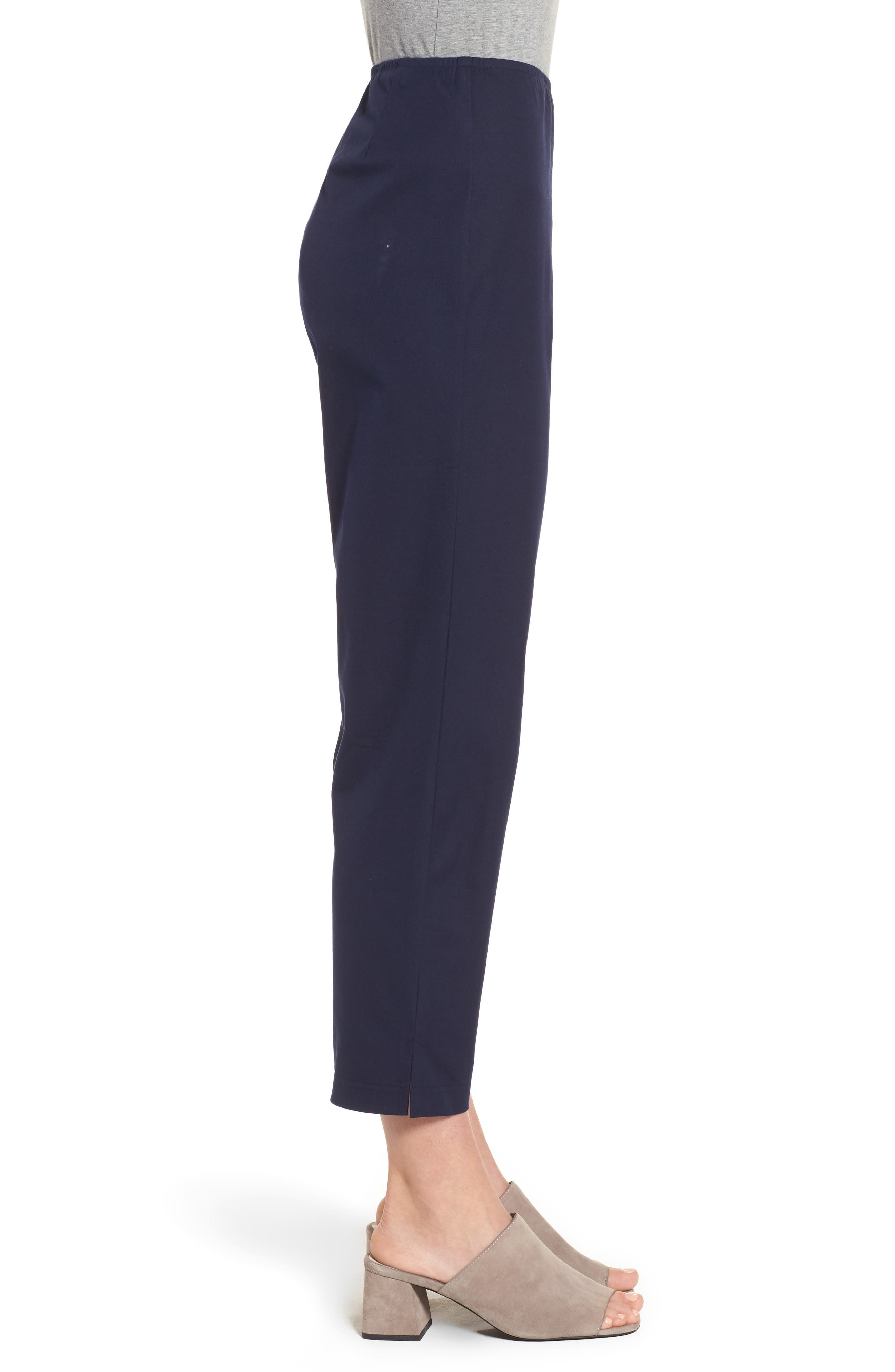 Organic Stretch Cotton Twill Ankle Pants,                             Alternate thumbnail 34, color,