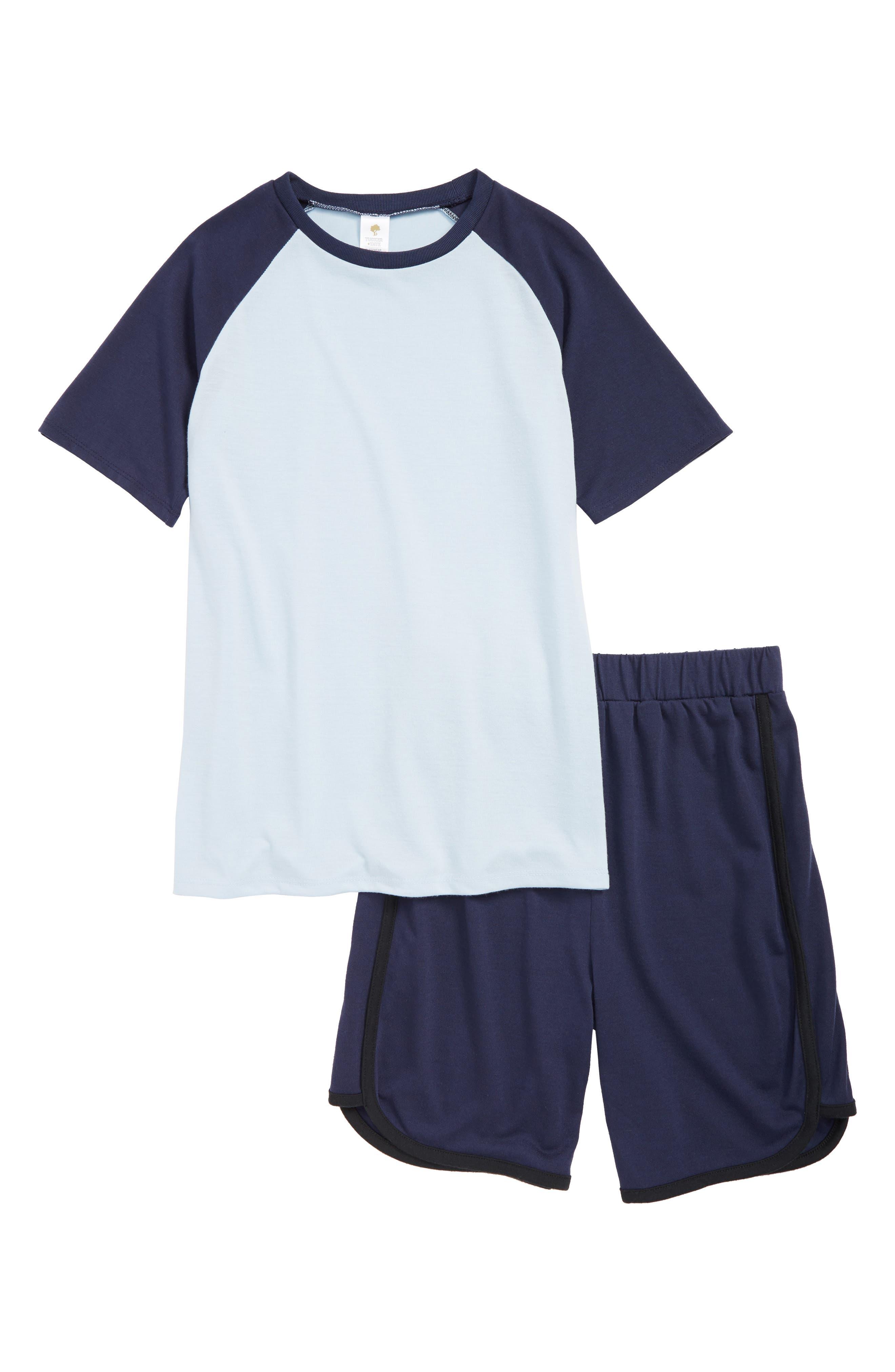 TUCKER + TATE Sporty Top & Shorts Set, Main, color, NAVY PEACOAT