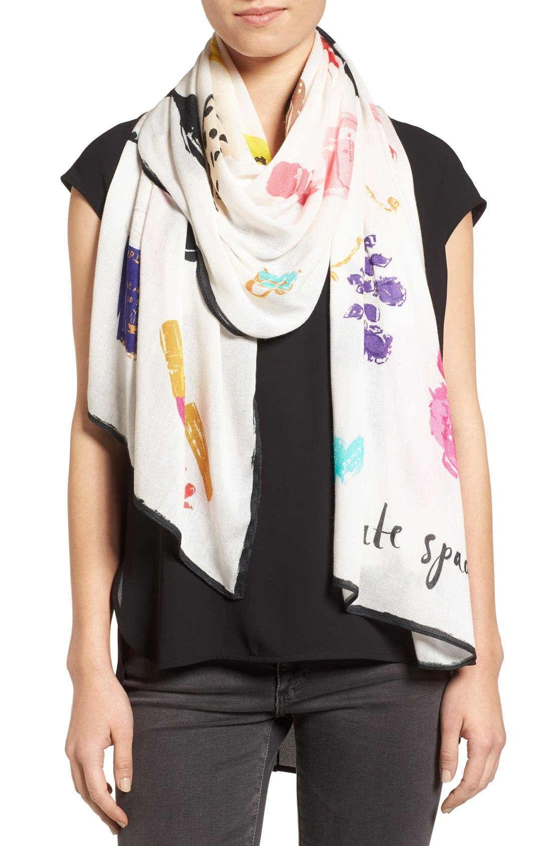 things we love oblong scarf,                         Main,                         color, CREAM