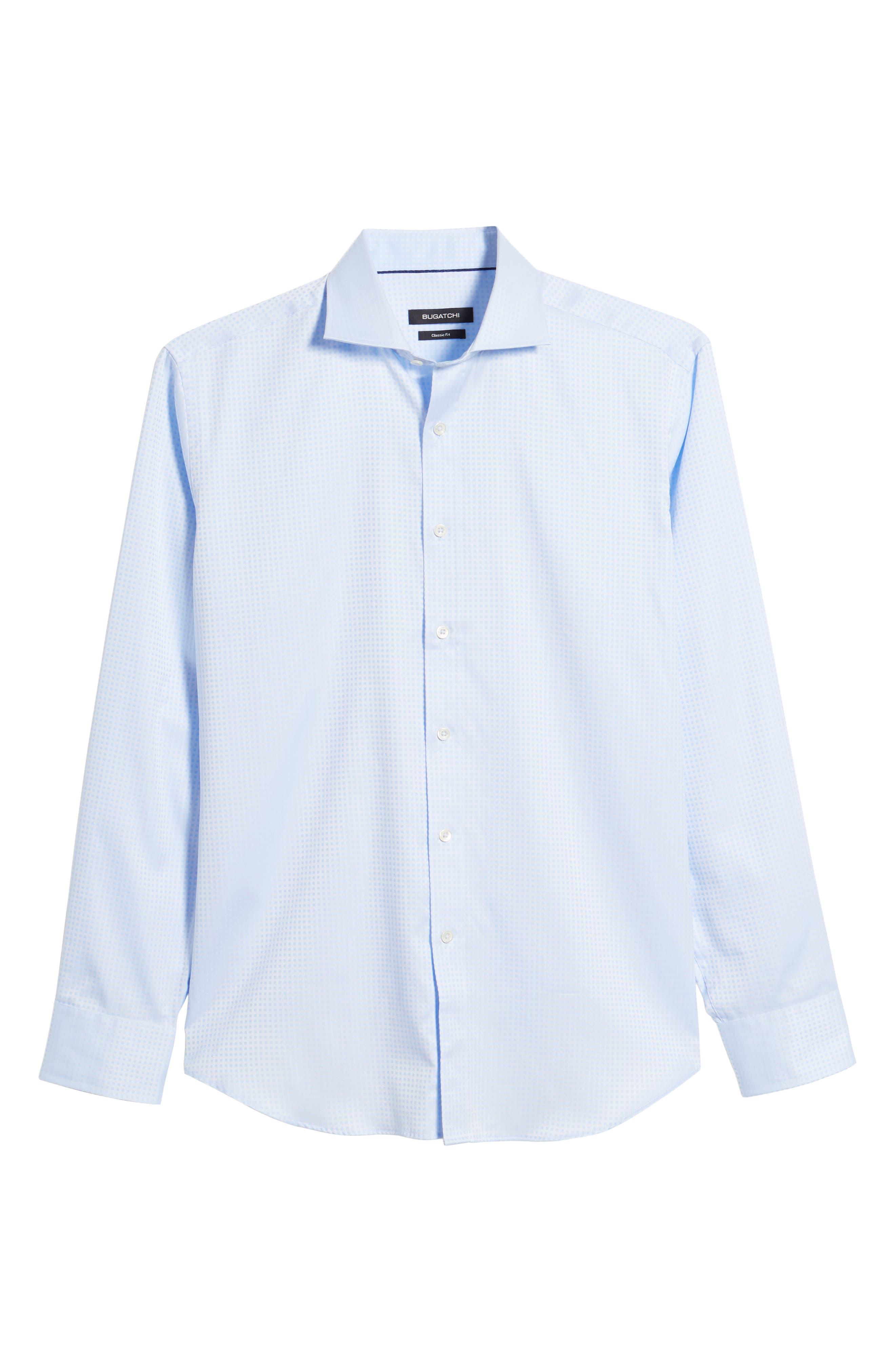 Classic Fit Pin Check Jacquard Sport Shirt,                             Alternate thumbnail 6, color,                             459
