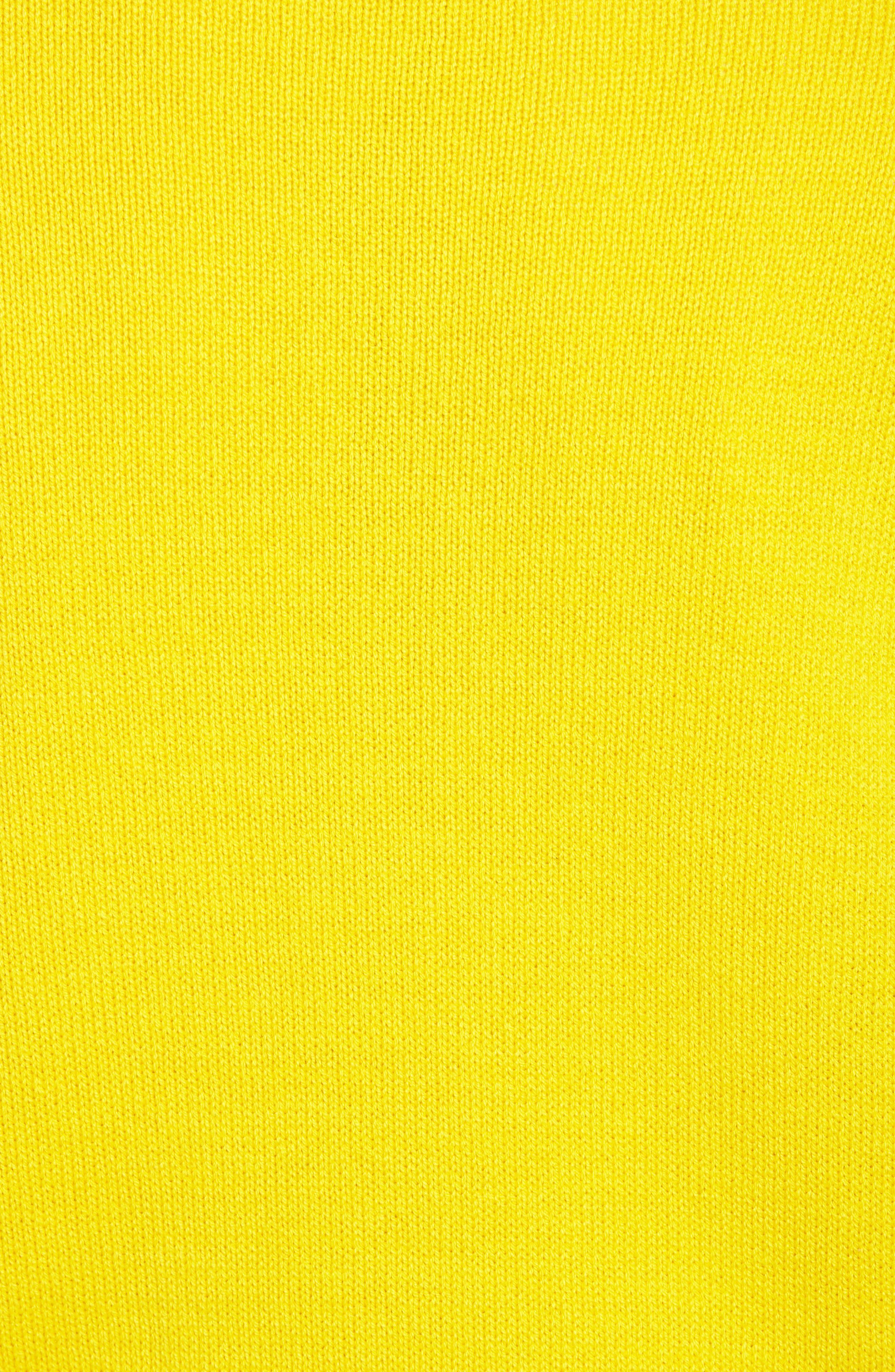 Crewneck Sweater,                             Alternate thumbnail 5, color,                             YELLOW SULPHUR