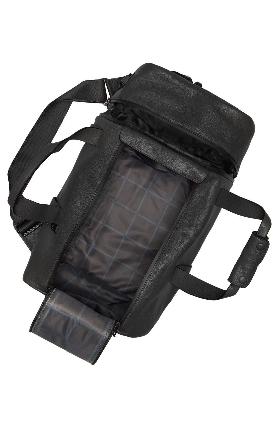 'Mestr' Leather & Suede Duffel Bag,                             Alternate thumbnail 2, color,                             001