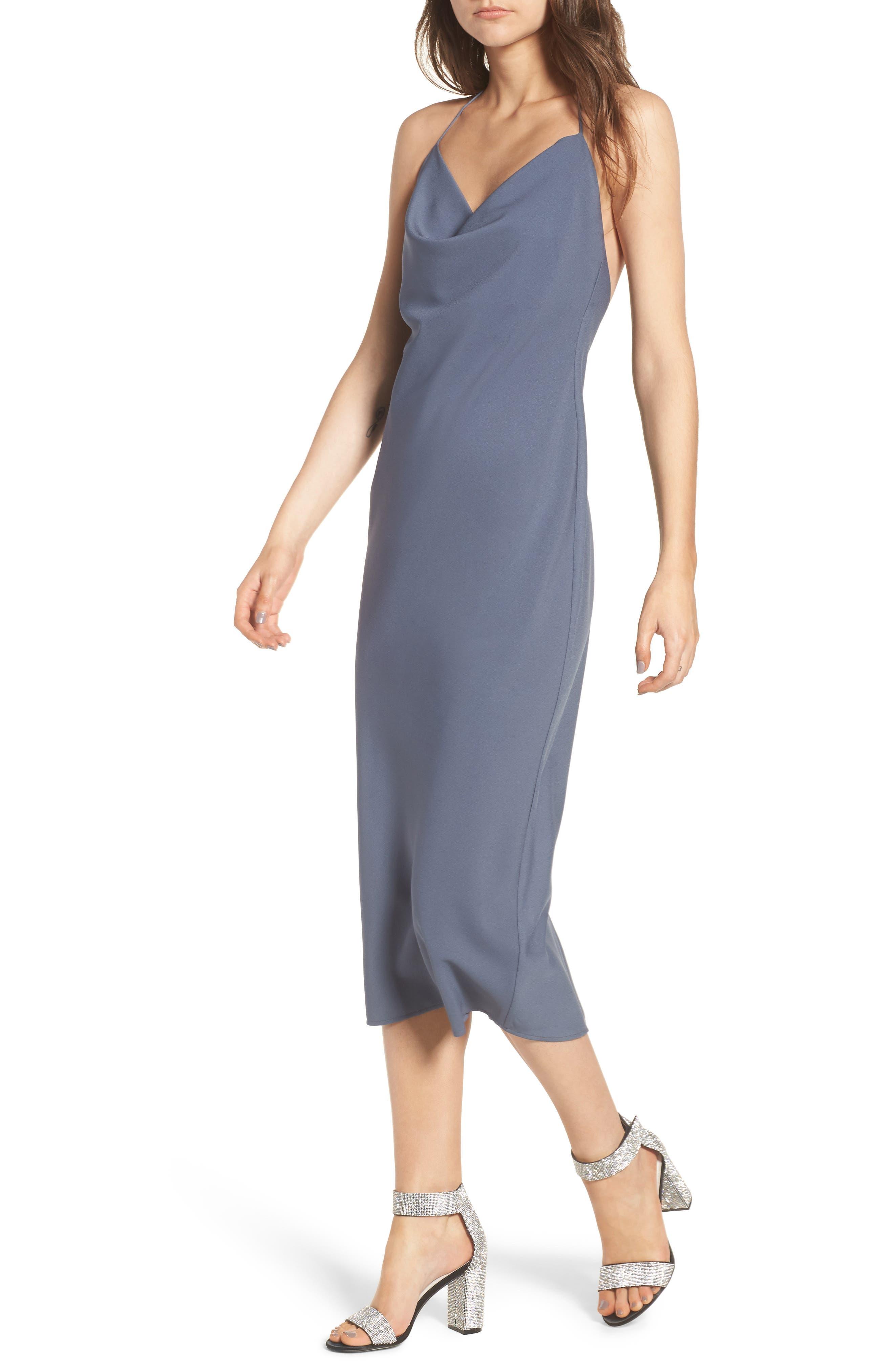 Cowl Neck Midi Dress,                             Main thumbnail 1, color,                             030
