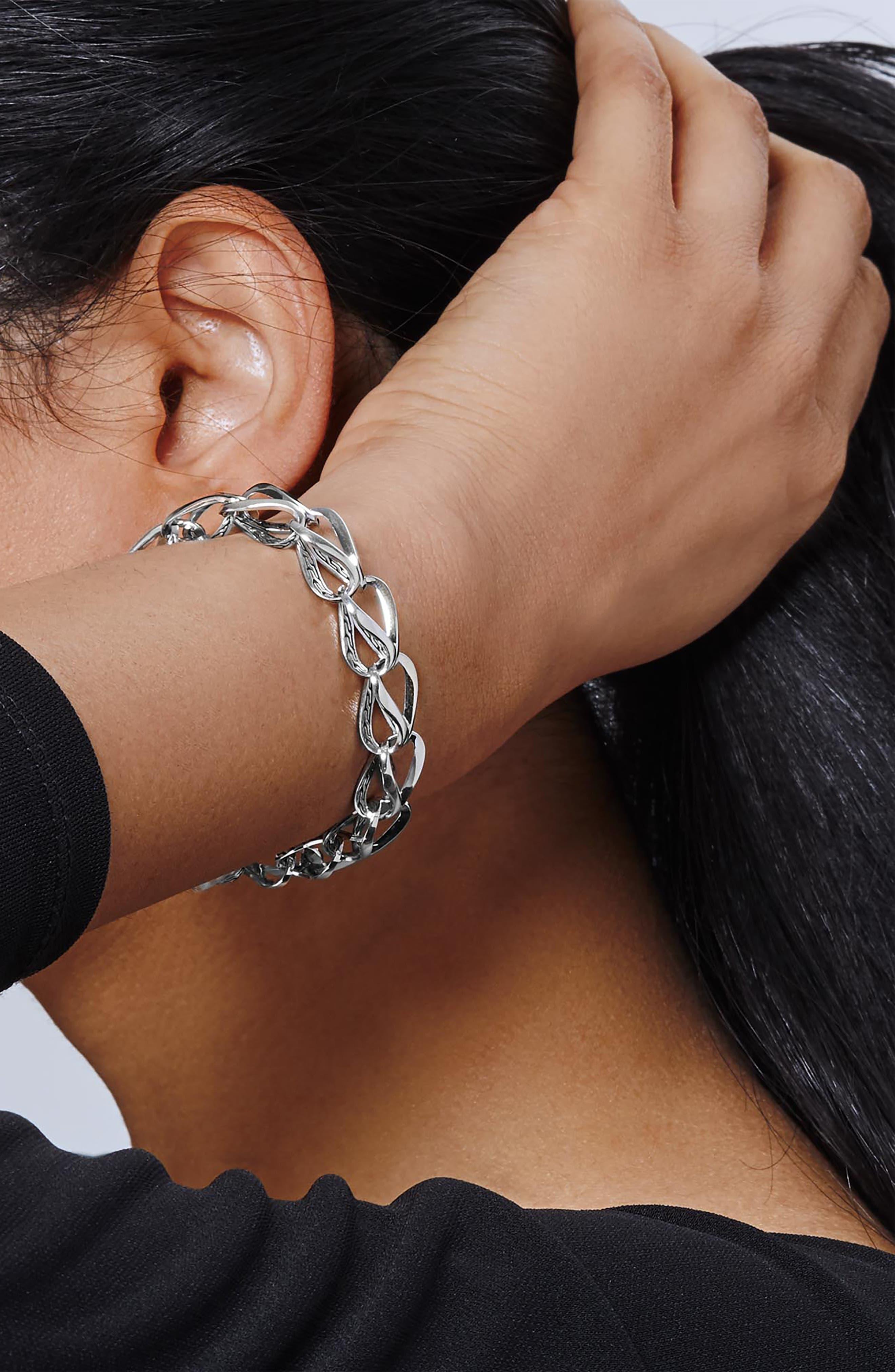 Classic Chain Link Bracelet,                             Alternate thumbnail 2, color,                             SILVER