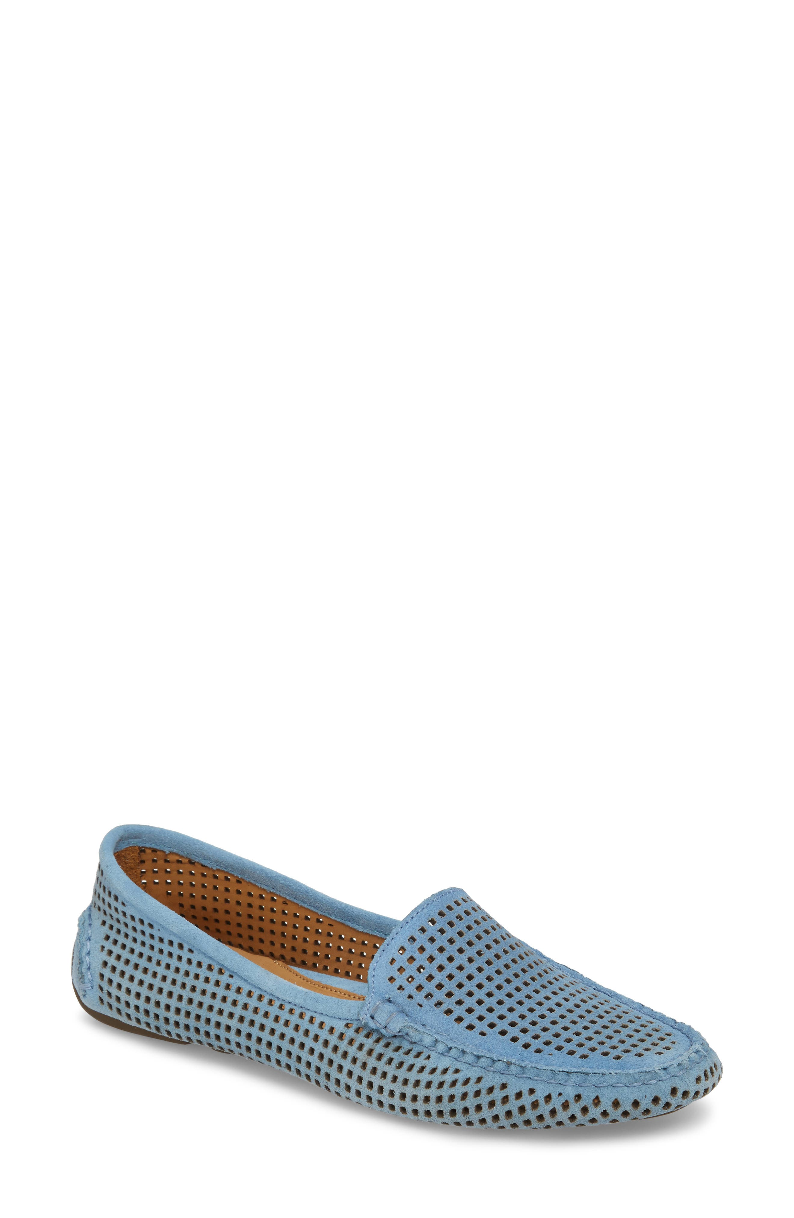 'Barrie' Flat,                         Main,                         color, FRENCH BLUE SUEDE