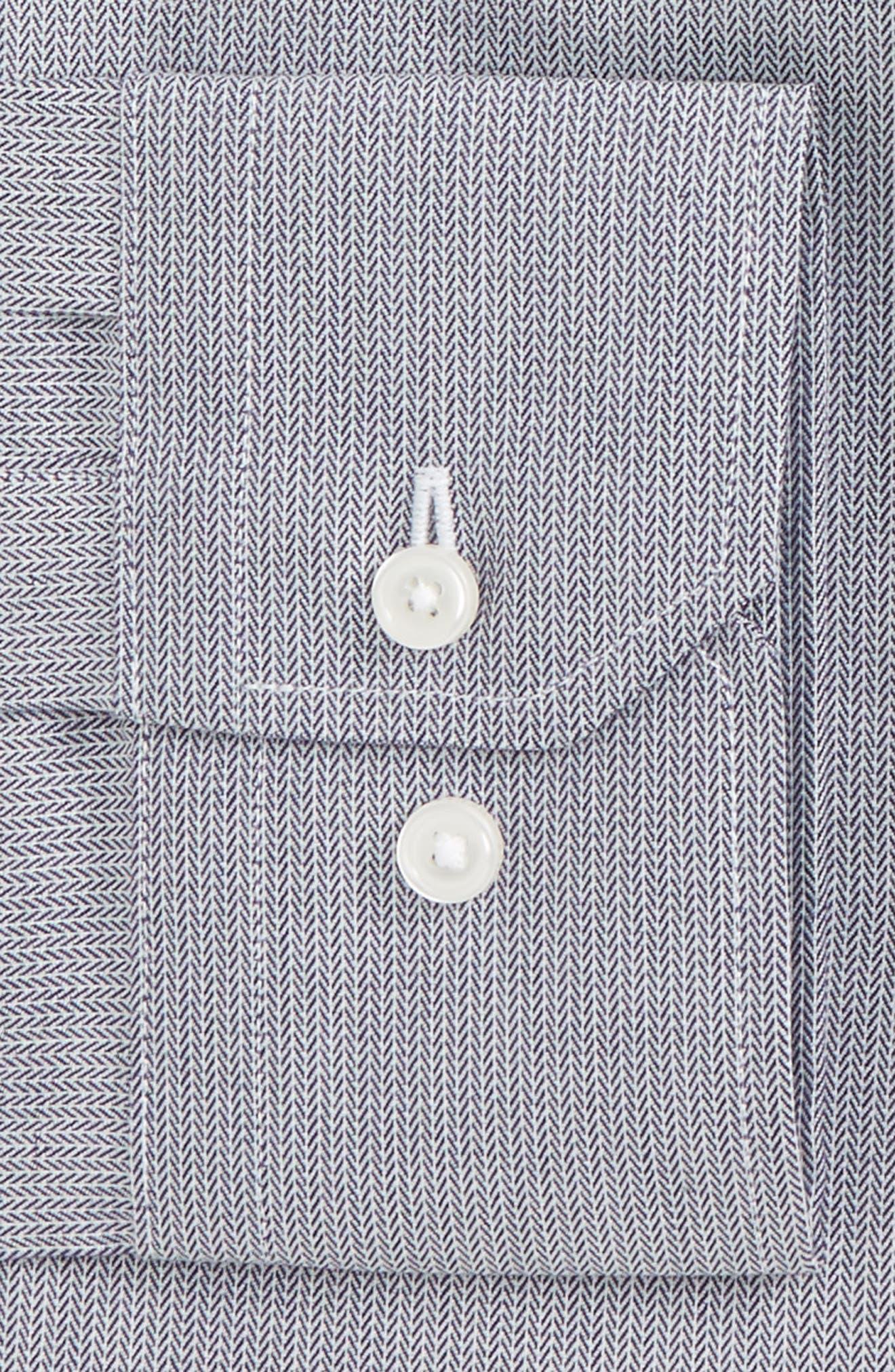 Trim Fit No-Iron Stretch Cotton Dress Shirt,                             Alternate thumbnail 2, color,                             021