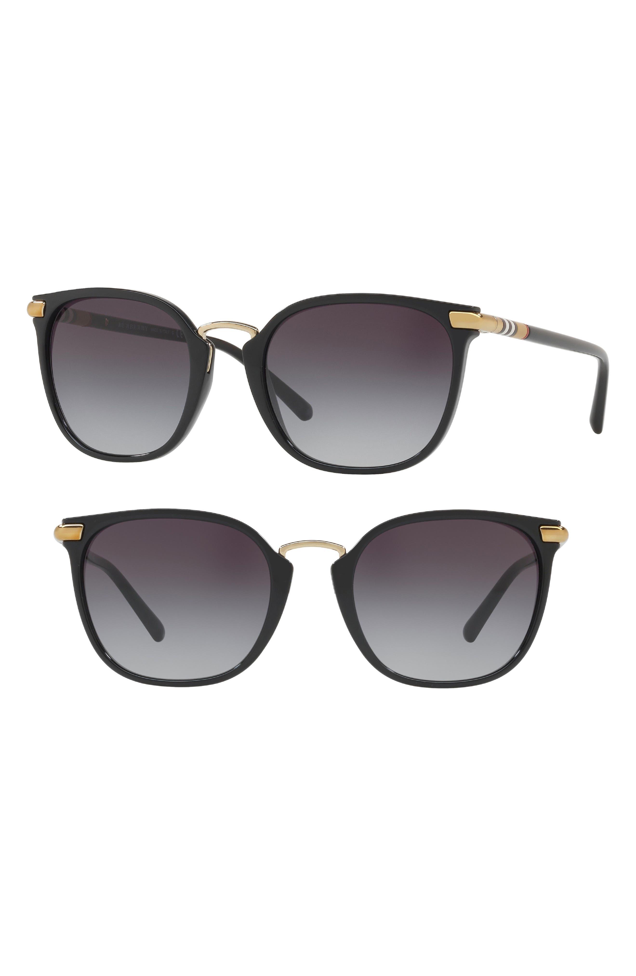 53mm Gradient Square Sunglasses,                             Alternate thumbnail 4, color,