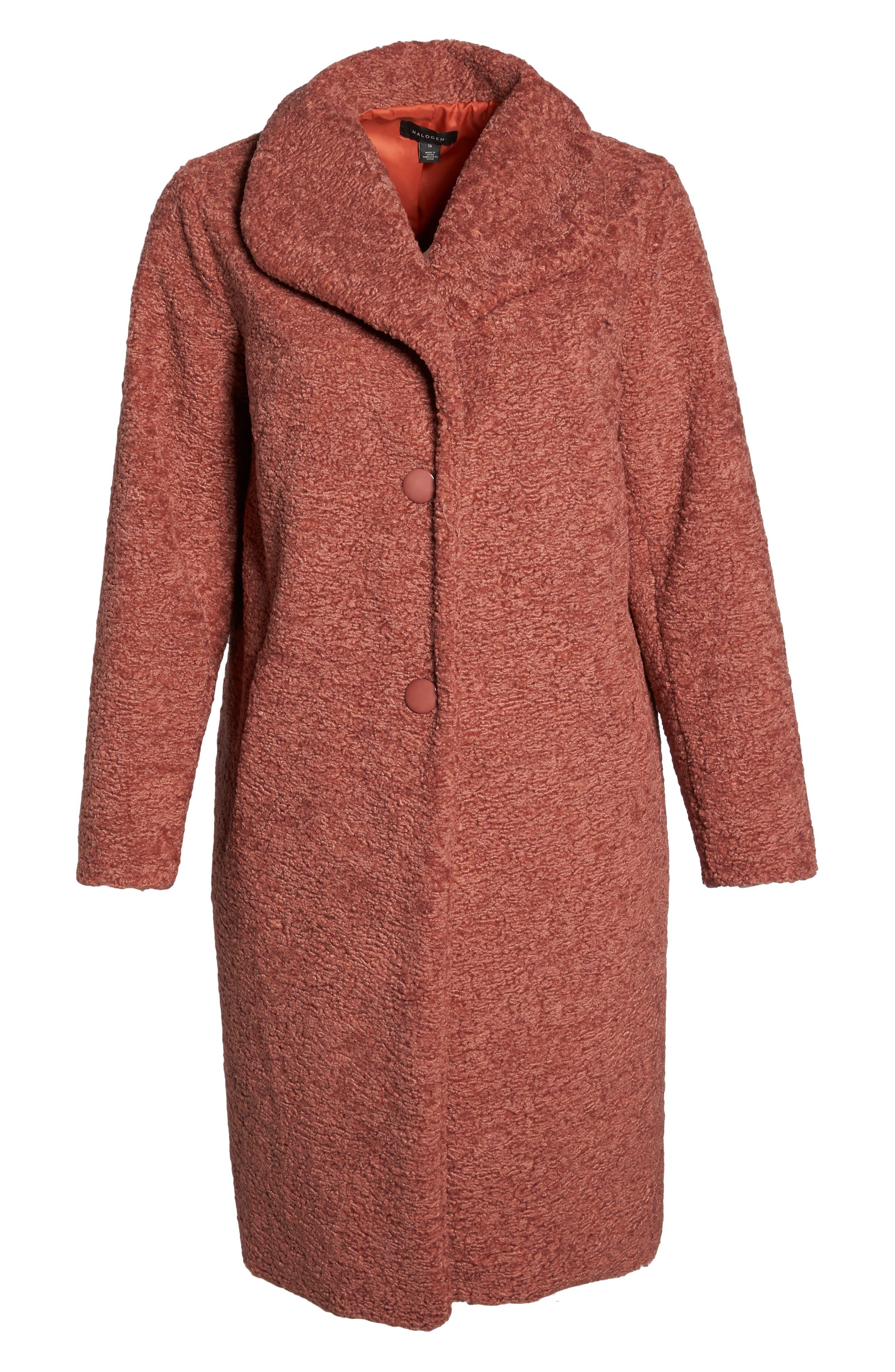 Faux Fur Coat,                             Alternate thumbnail 6, color,                             630