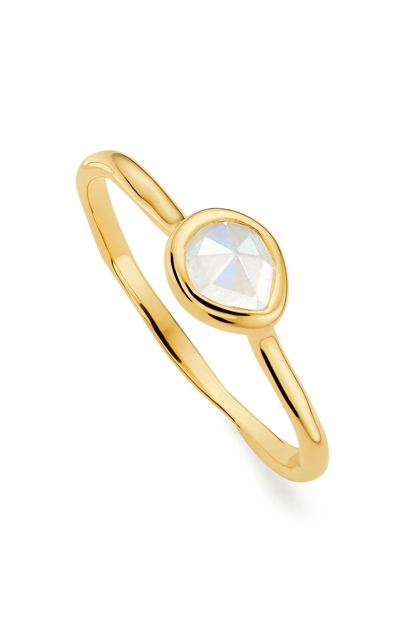 Siren Small Semiprecious Stone Stacking Ring,                             Alternate thumbnail 5, color,                             GOLD/ MOONSTONE