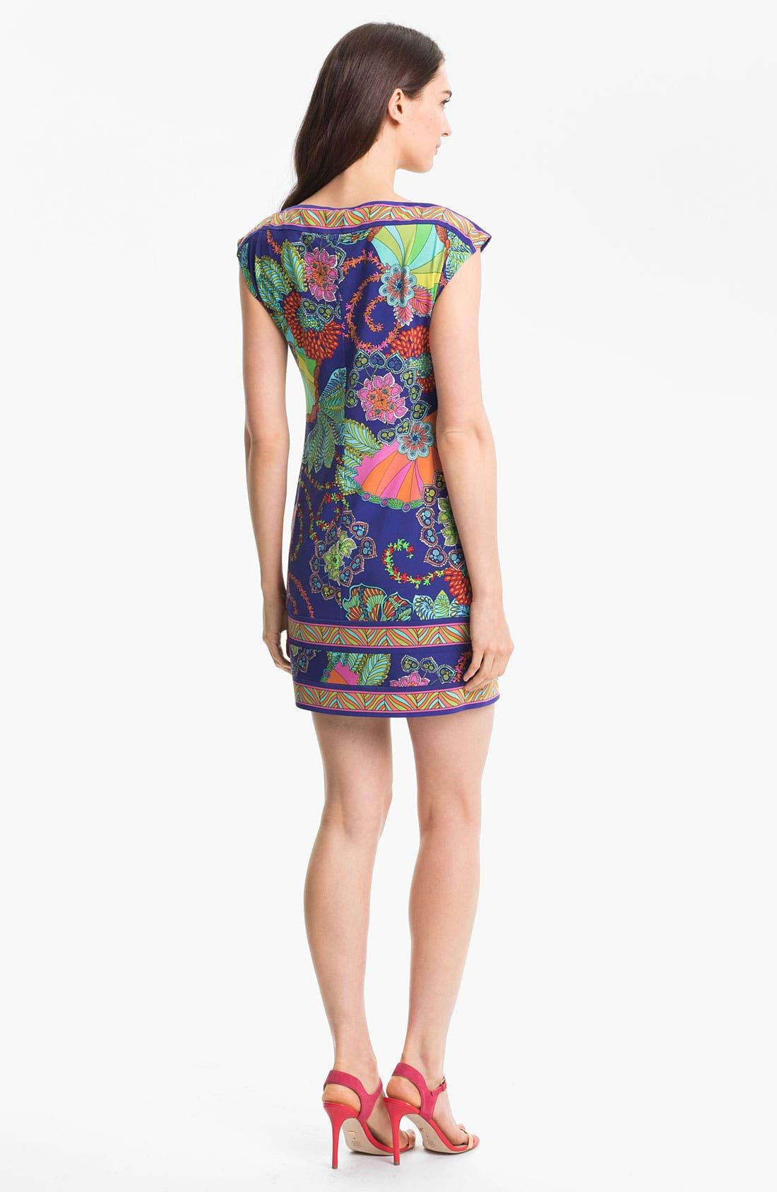 TRINA TURK,                             'Felana' Print Jersey Shift Dress,                             Alternate thumbnail 3, color,                             400