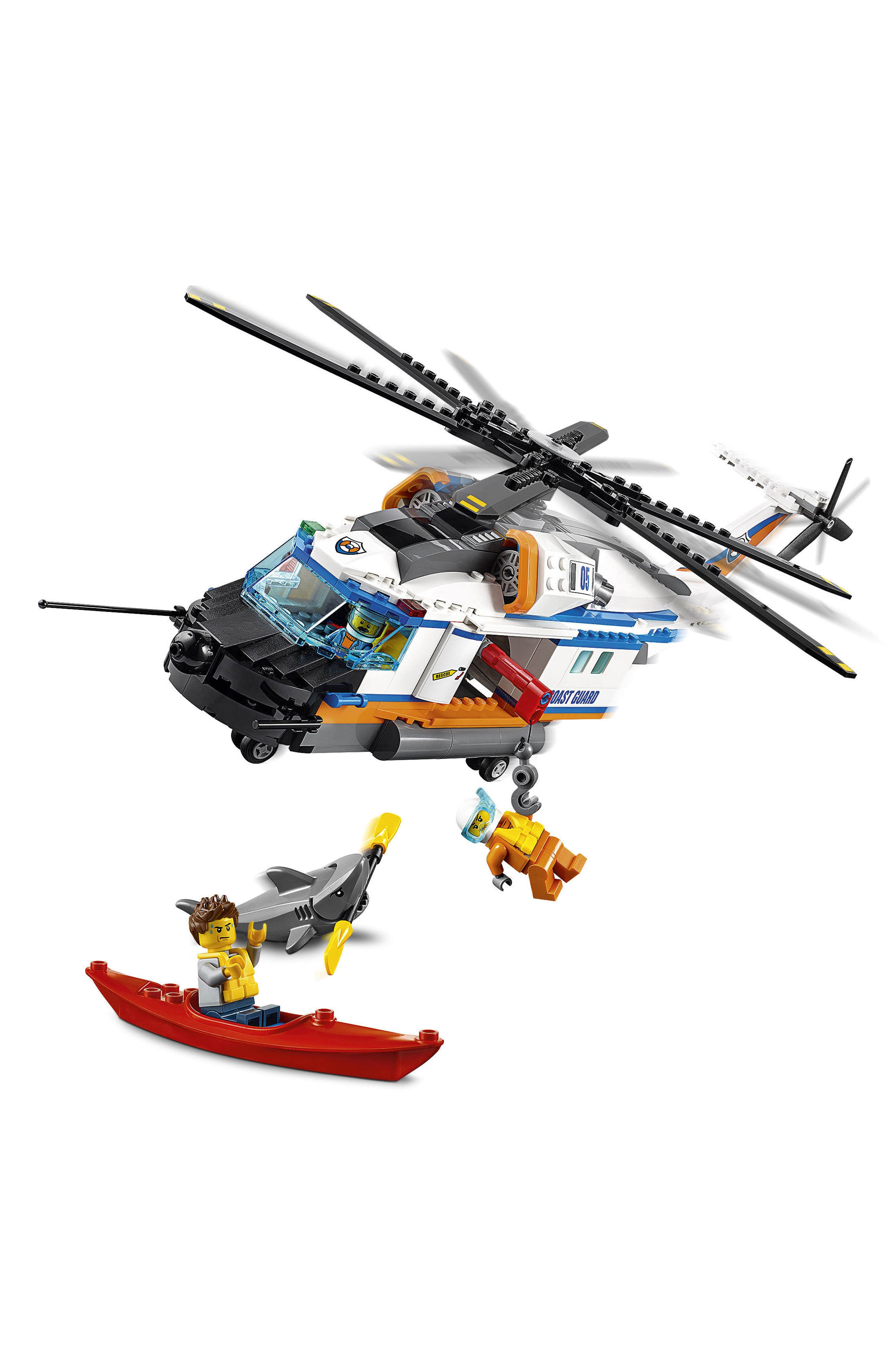 City Heavy-Duty Rescue Helicopter - 60166,                             Alternate thumbnail 3, color,                             100