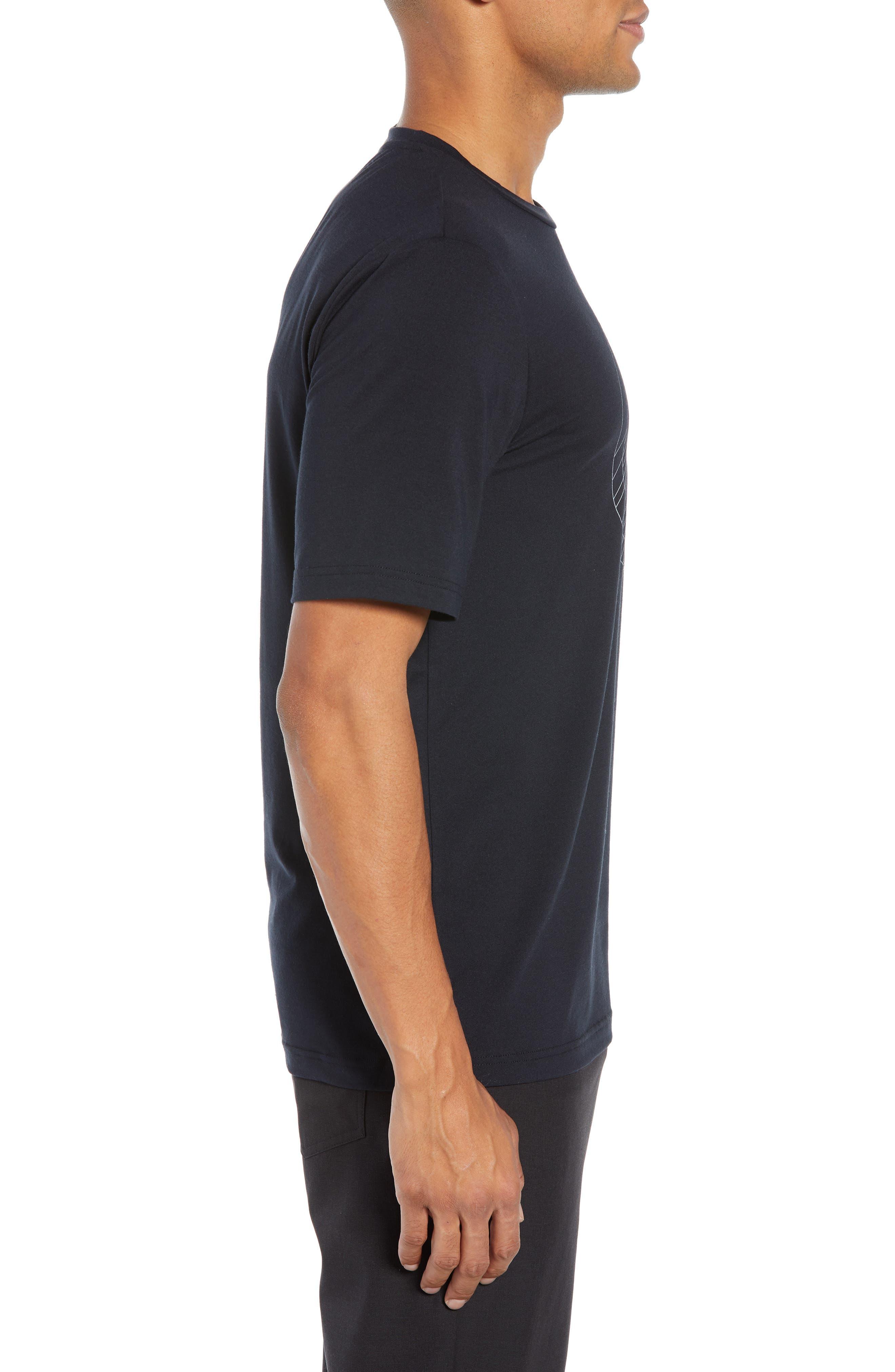 The Bias T-Shirt,                             Alternate thumbnail 3, color,                             BLACK