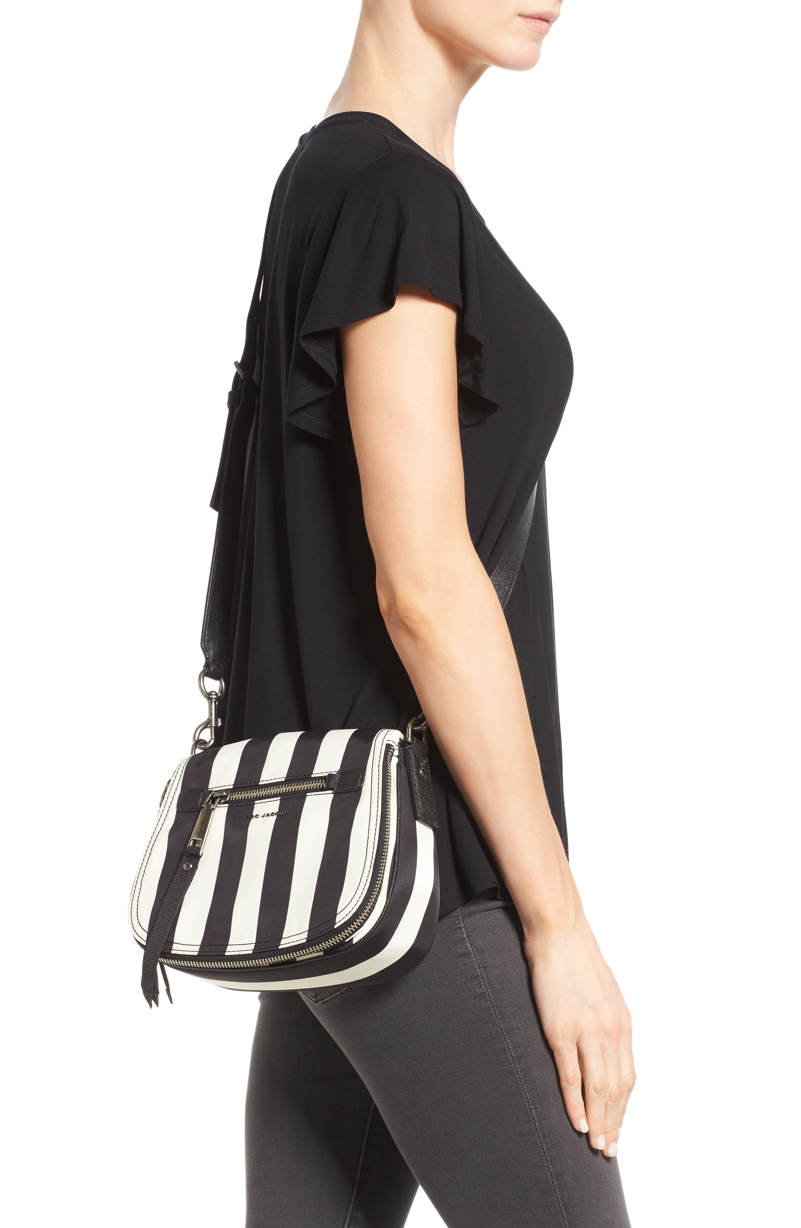 Trooper - Stripes Small Nylon Crossbody Bag,                             Alternate thumbnail 2, color,                             001