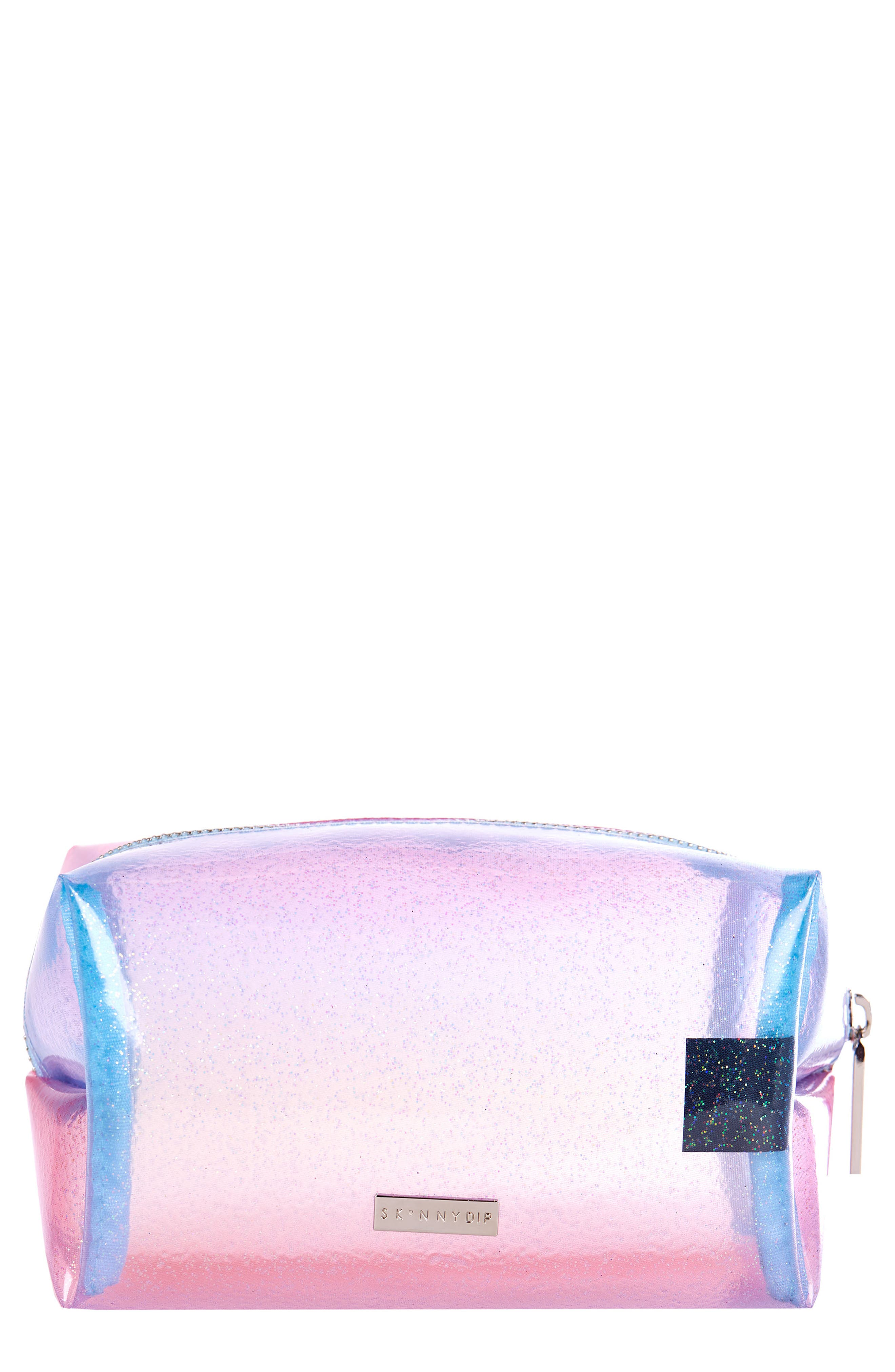 Skinny Dip Sunset Cosmetics Case,                             Main thumbnail 1, color,                             NO COLOR