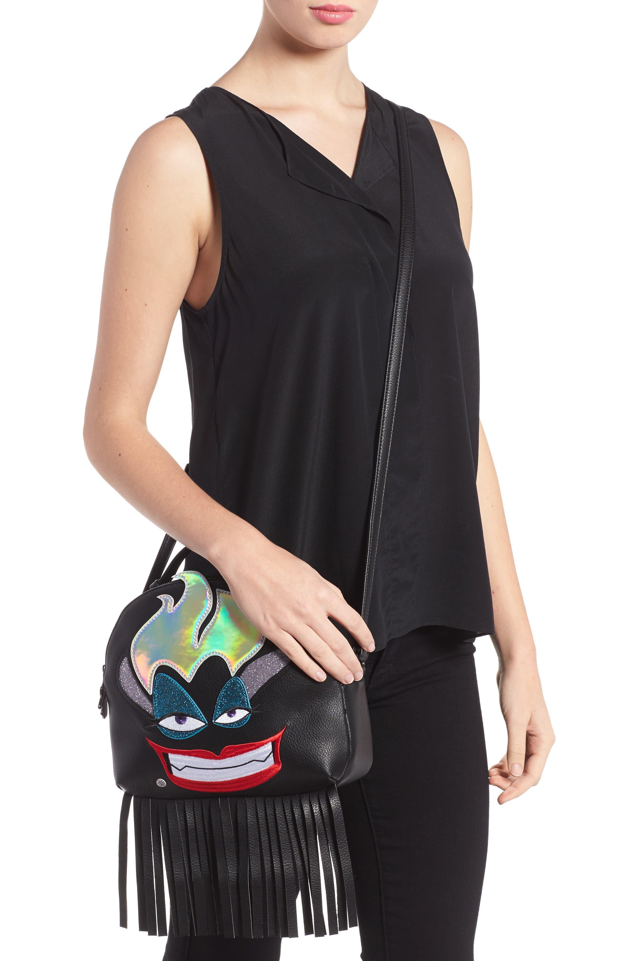 DANIELLE NICOLE,                             x Disney<sup>®</sup> Ursula Faux Leather Crossbody Bag,                             Alternate thumbnail 3, color,                             001