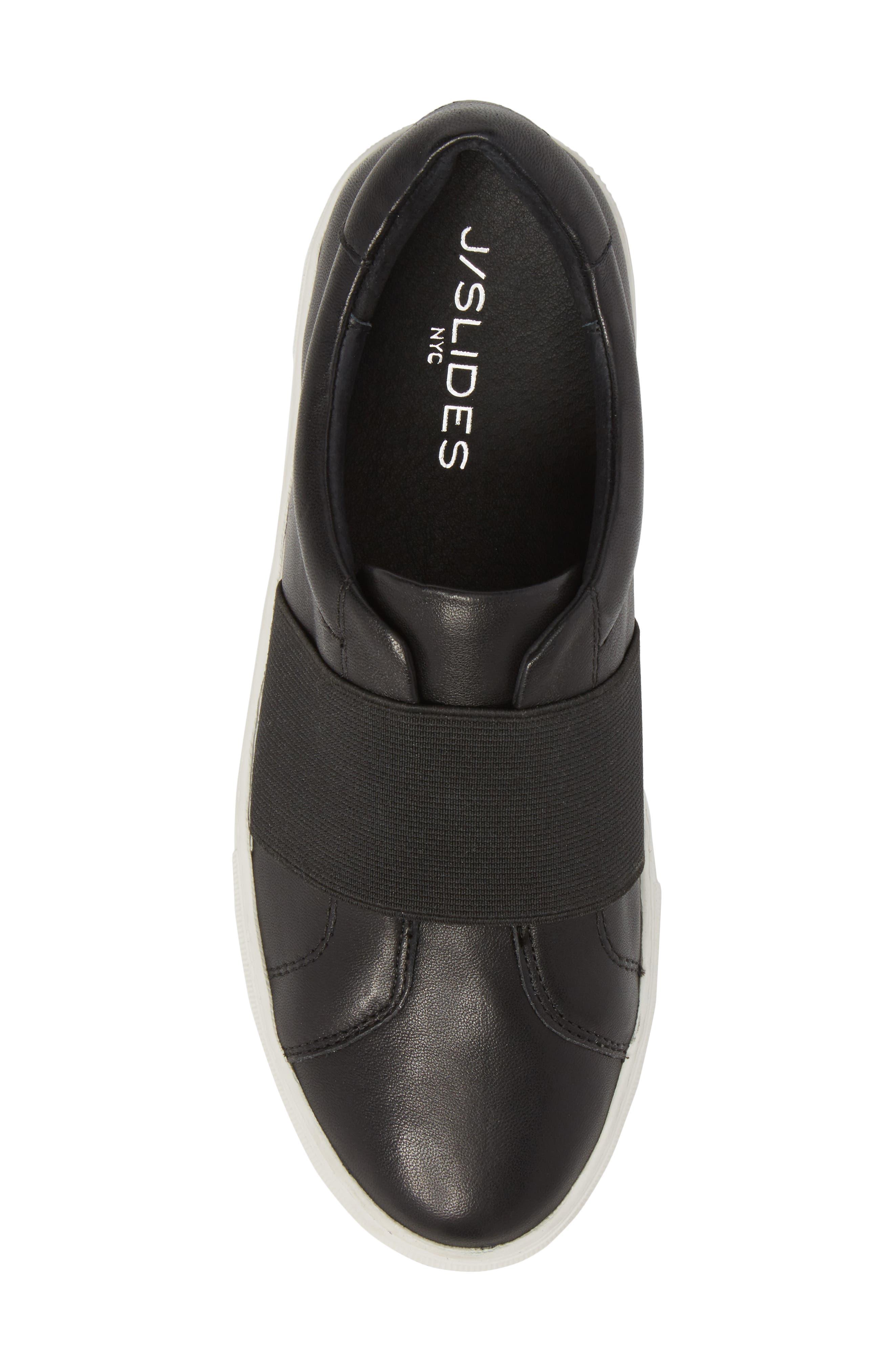 Adorn Slip-On Sneaker,                             Alternate thumbnail 5, color,                             BLACK/ BLACK LEATHER