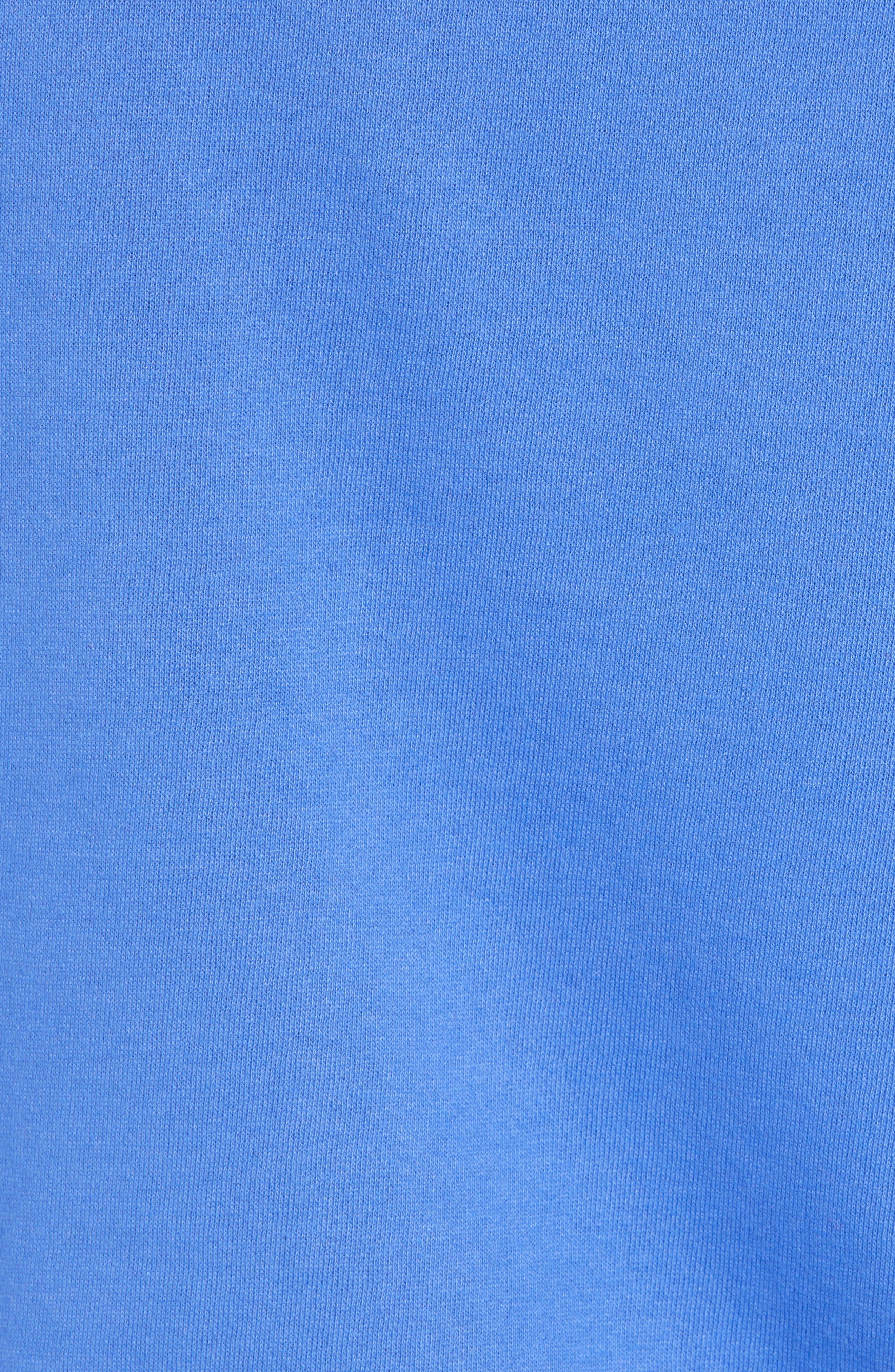 Fleece Hoodie,                             Alternate thumbnail 5, color,                             BLUE AMPARO