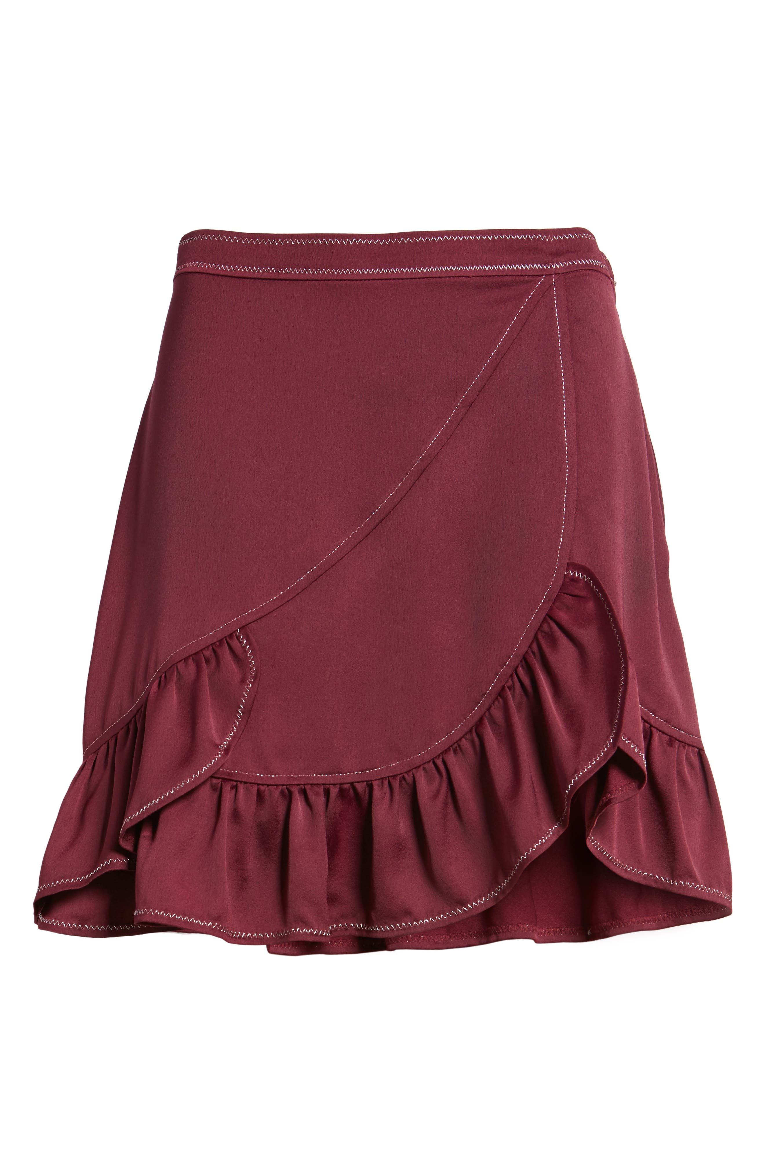 Brielle Ruffle Miniskirt,                             Alternate thumbnail 6, color,                             506