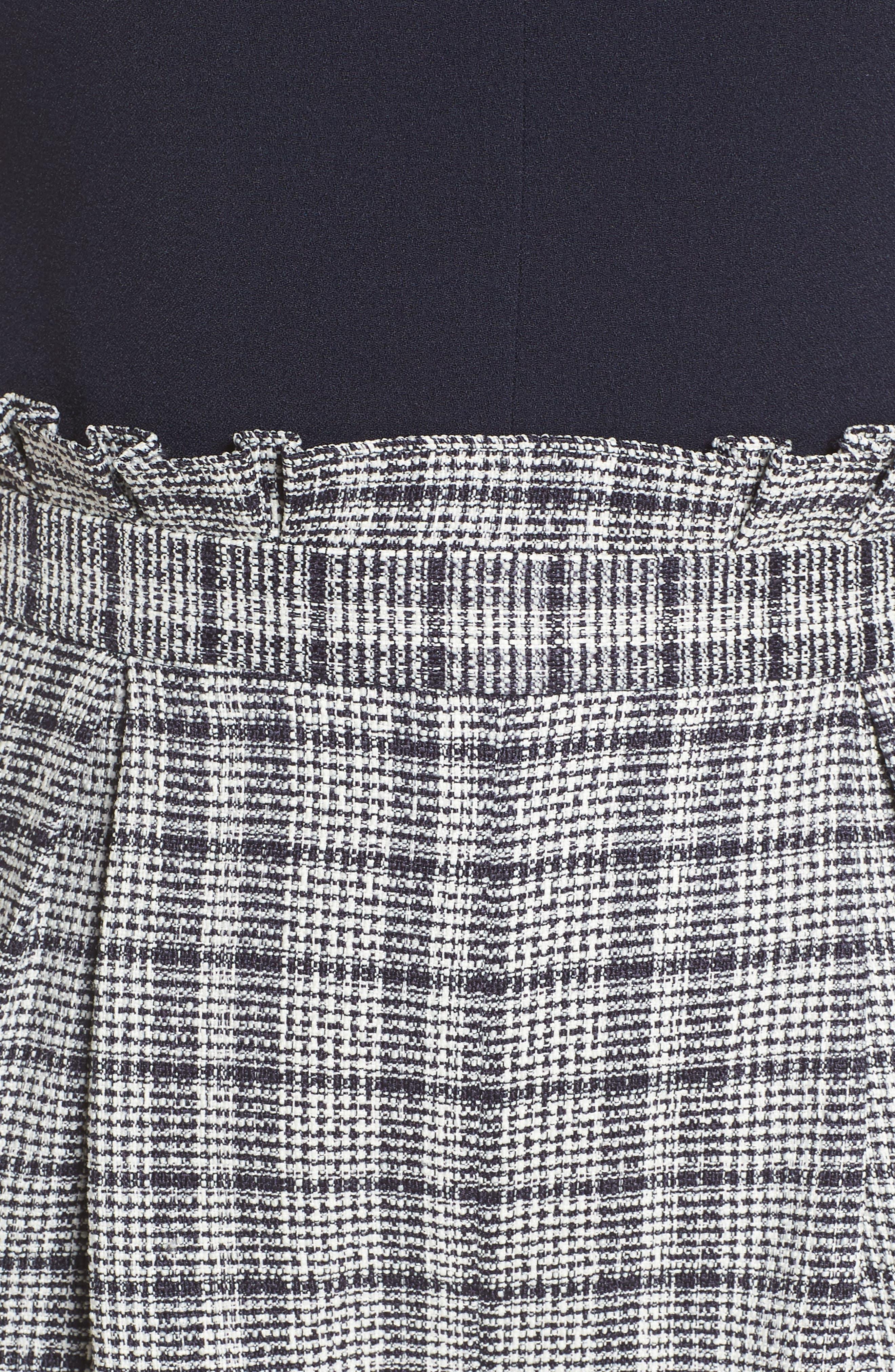 Wide Leg Tweed Jumpsuit,                             Alternate thumbnail 7, color,                             400