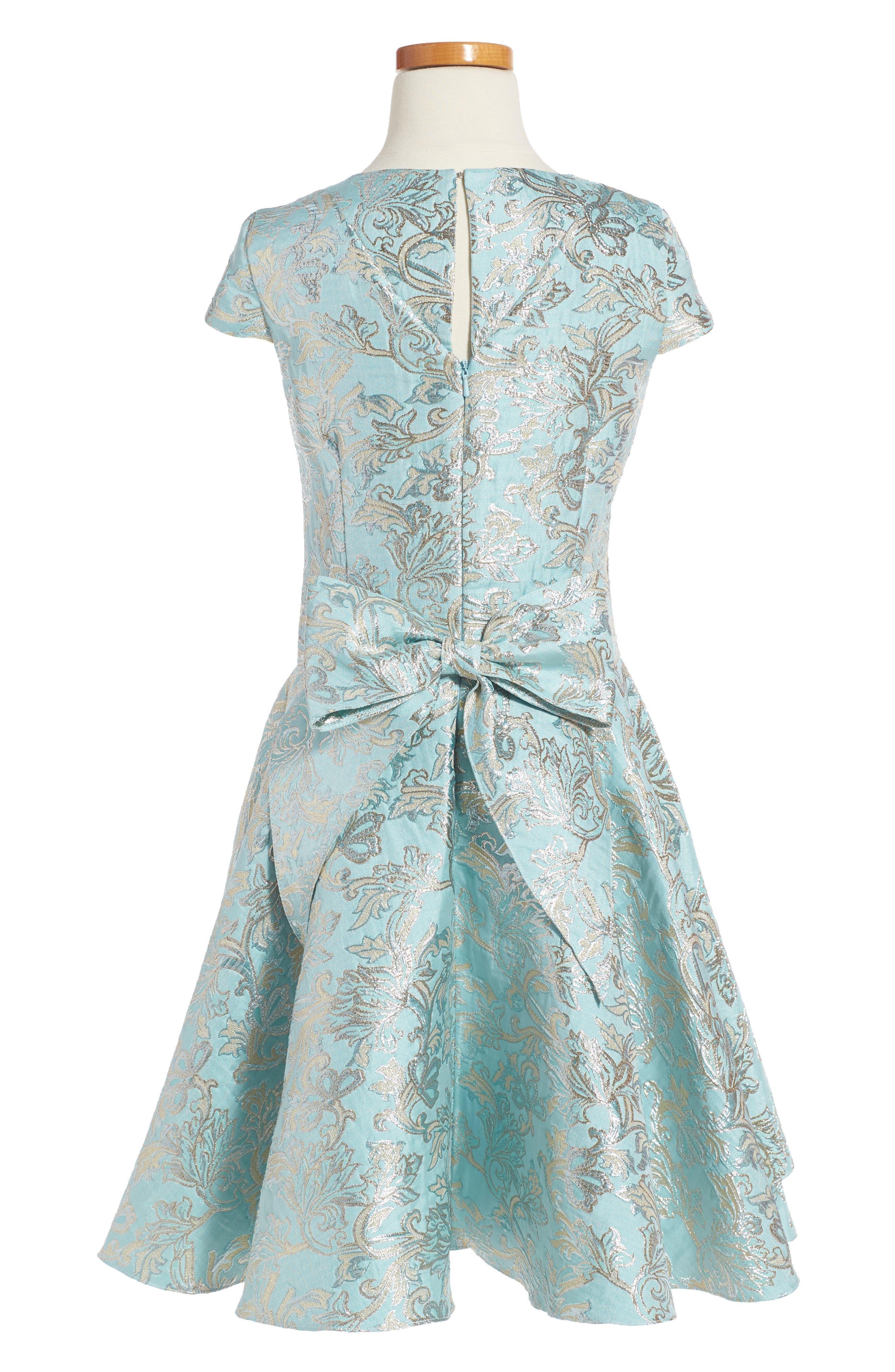 Floral Brocade Dress,                             Alternate thumbnail 3, color,                             440