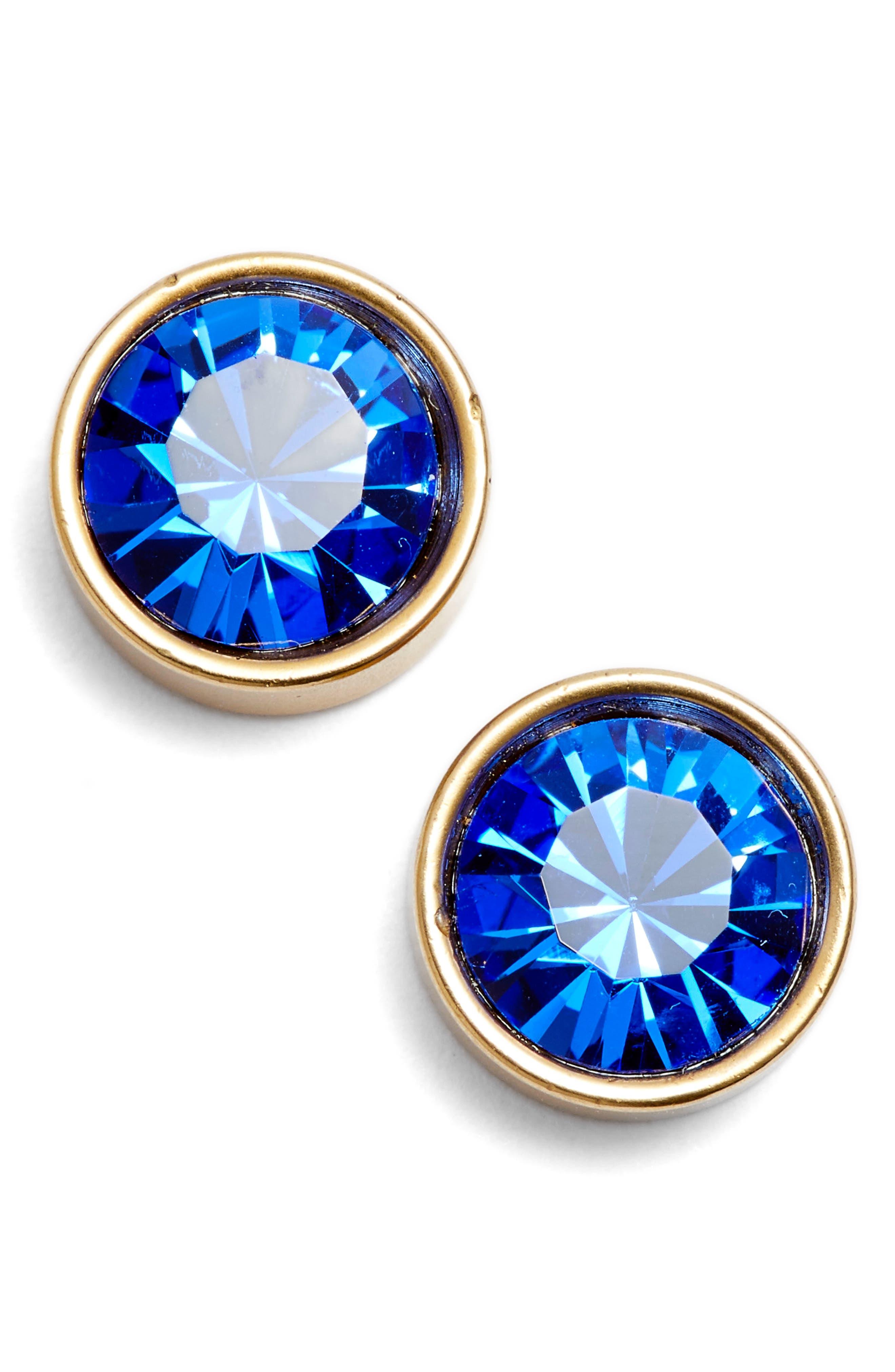 Bezel Set Stud Earrings,                             Main thumbnail 2, color,