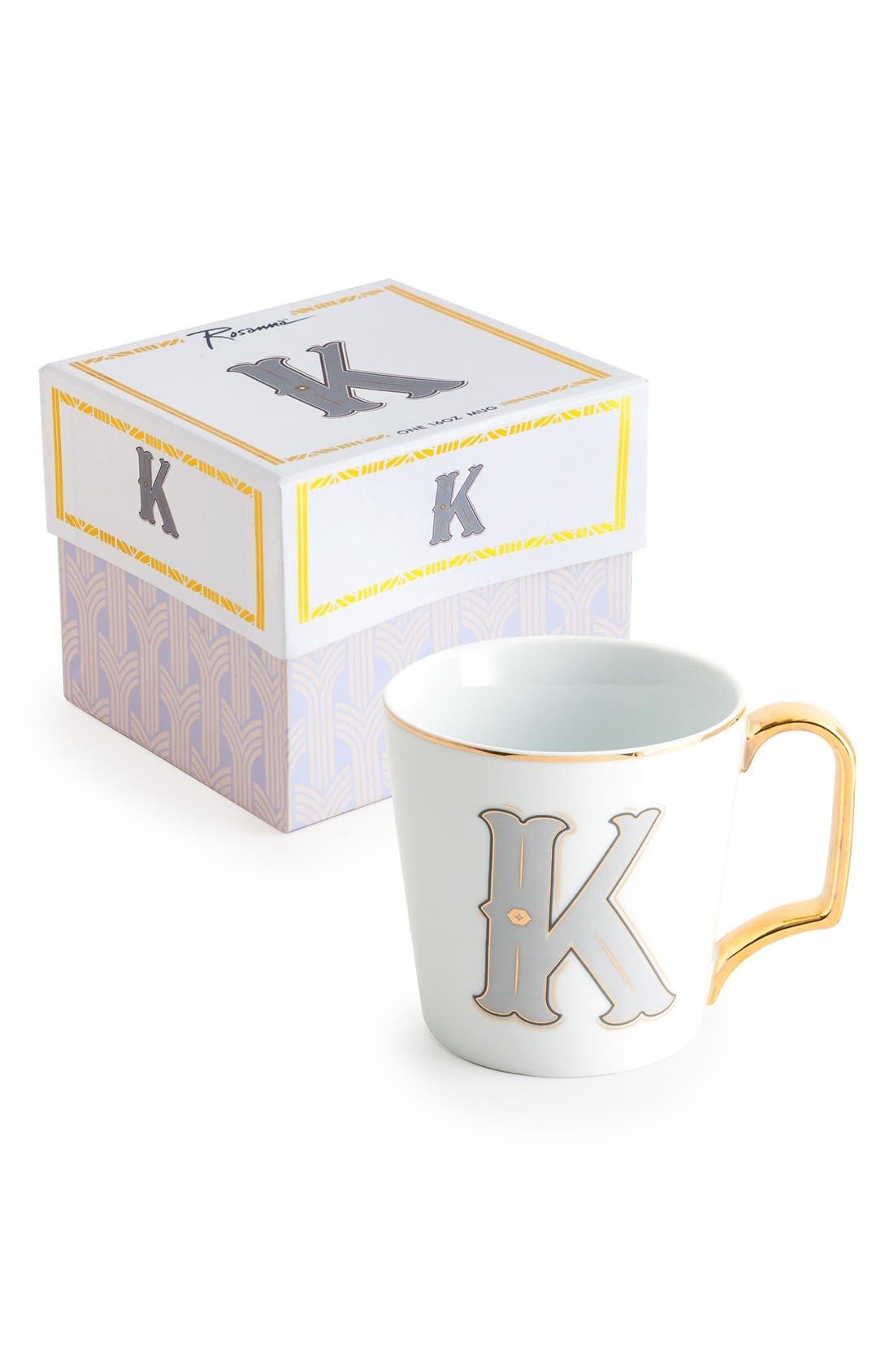 Monogram Porcelain Coffee Mug,                             Main thumbnail 9, color,