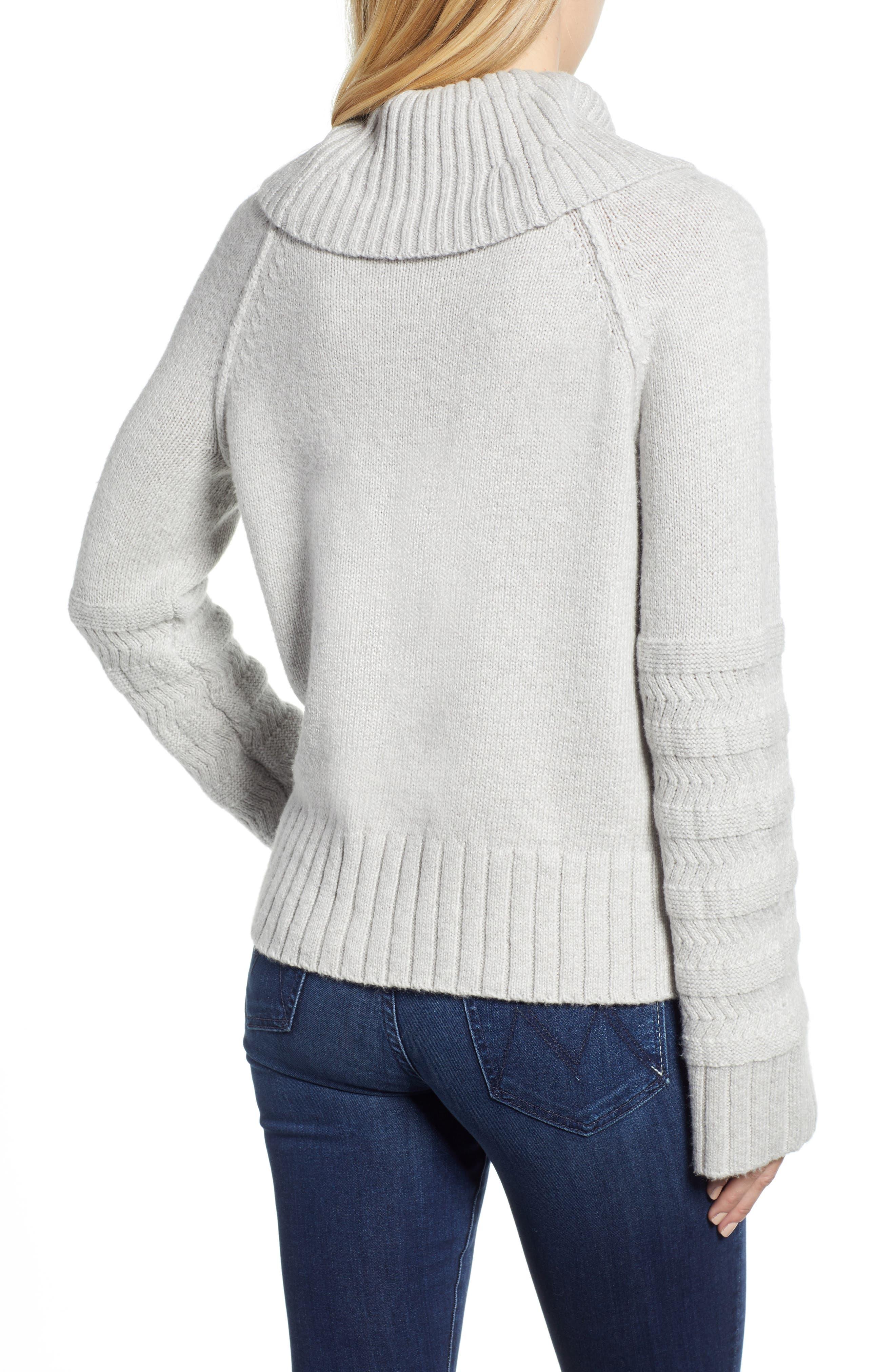 Turtleneck Sweater,                             Alternate thumbnail 2, color,                             GREY LIGHT HEATHER