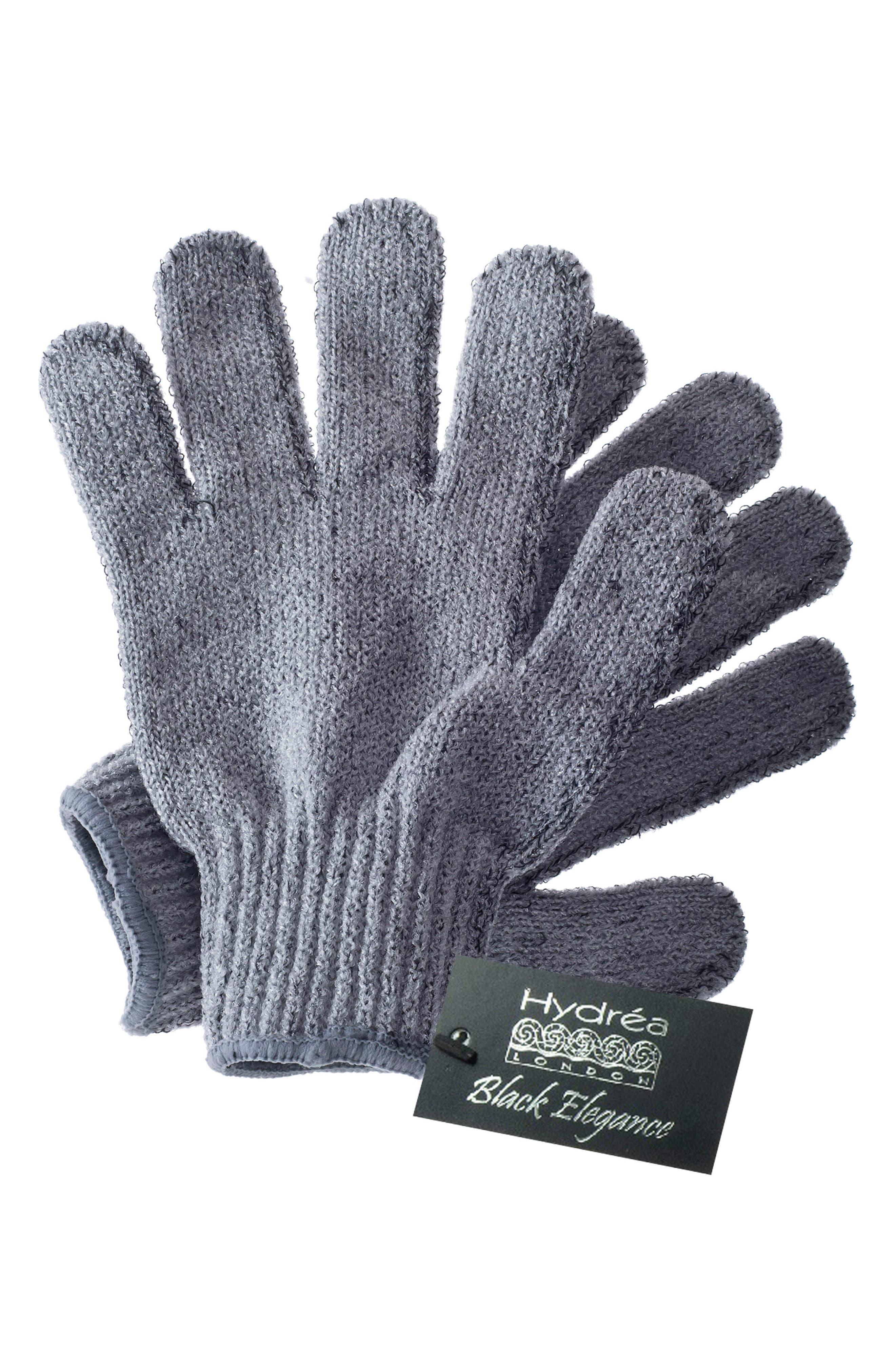 Carbonized Exfoliating Gloves,                             Alternate thumbnail 2, color,                             000