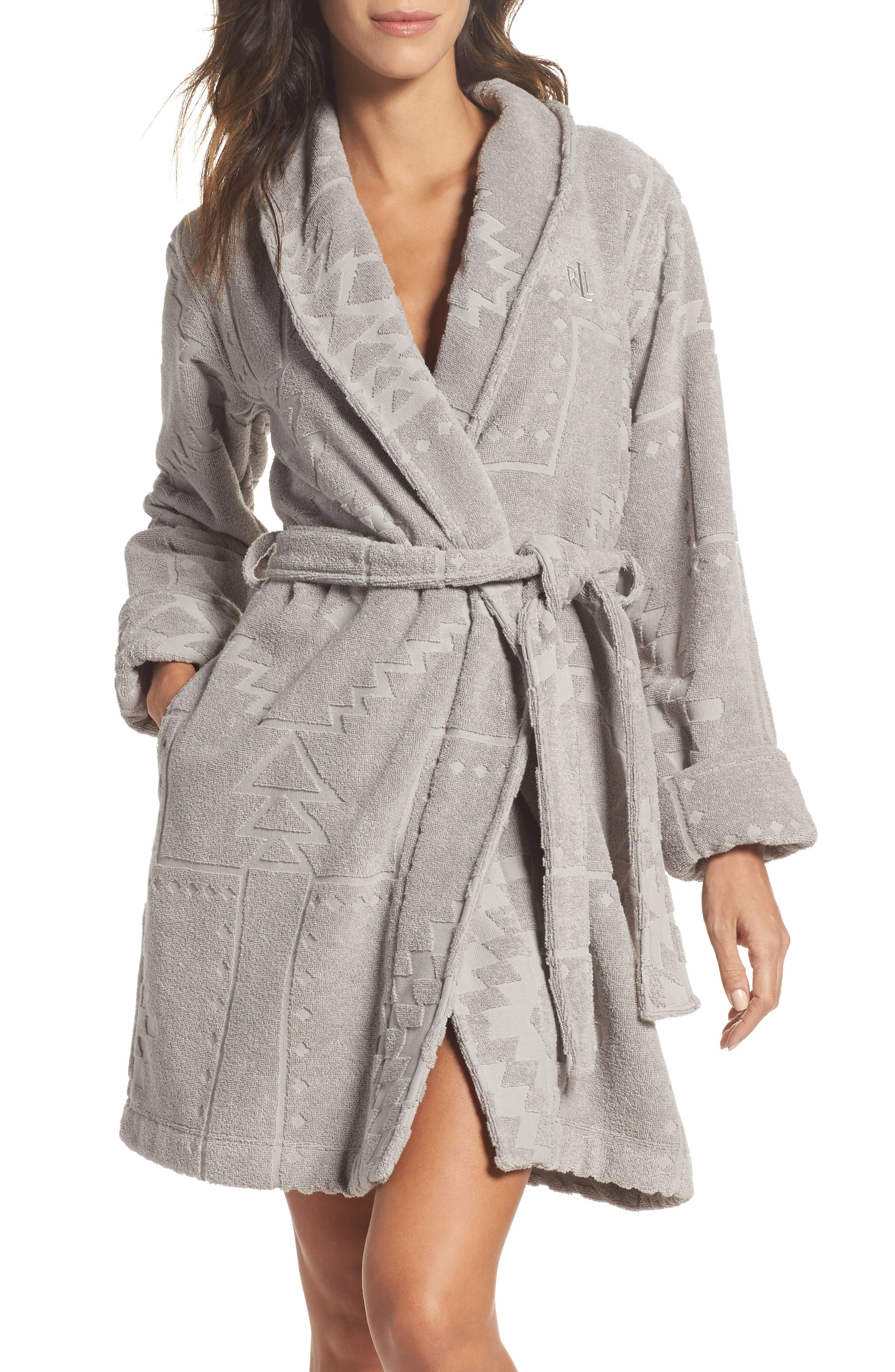 Short Terry Robe,                         Main,                         color,