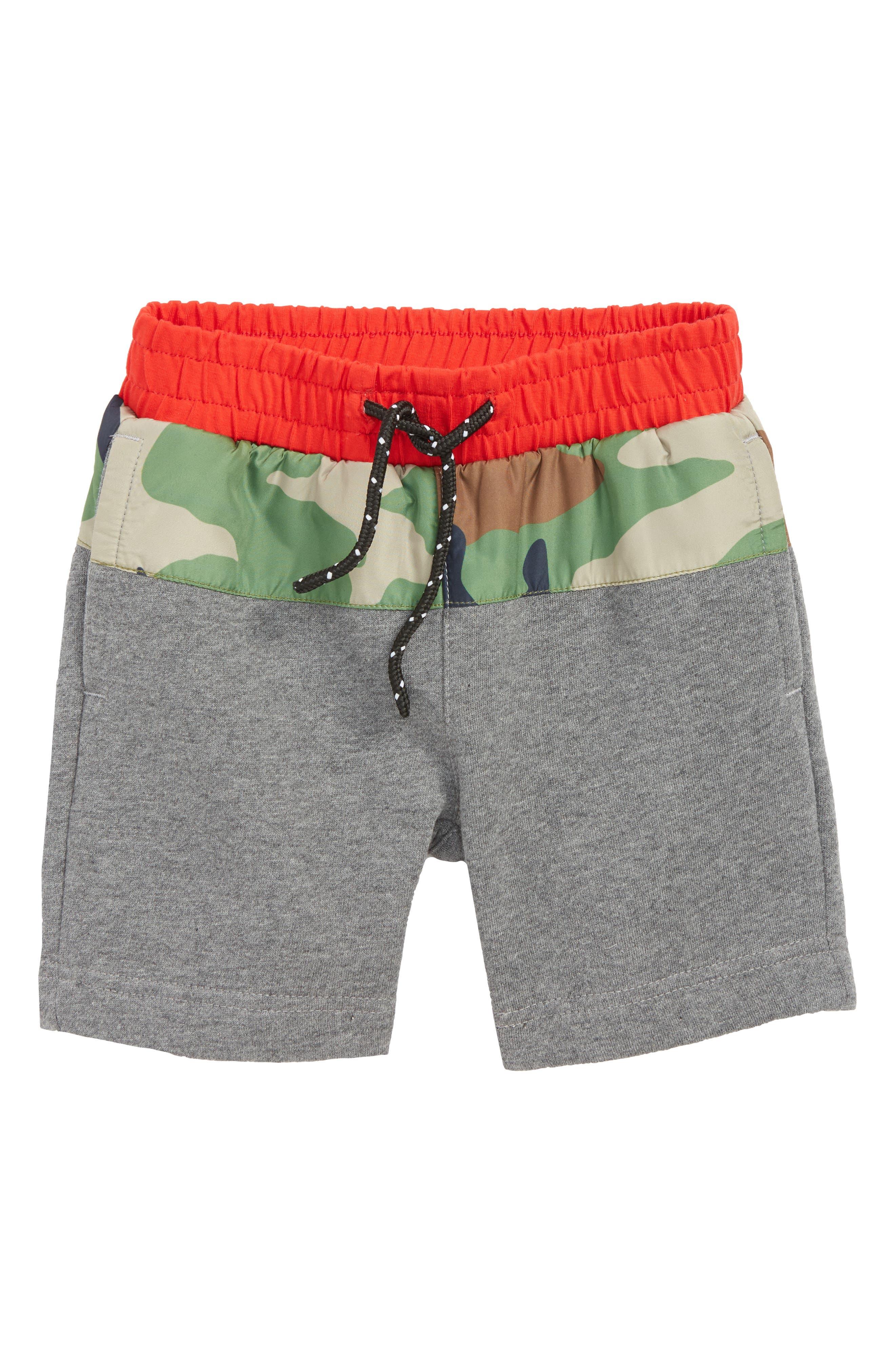 Ryder Camo Shorts,                         Main,                         color, HEATHER GREY