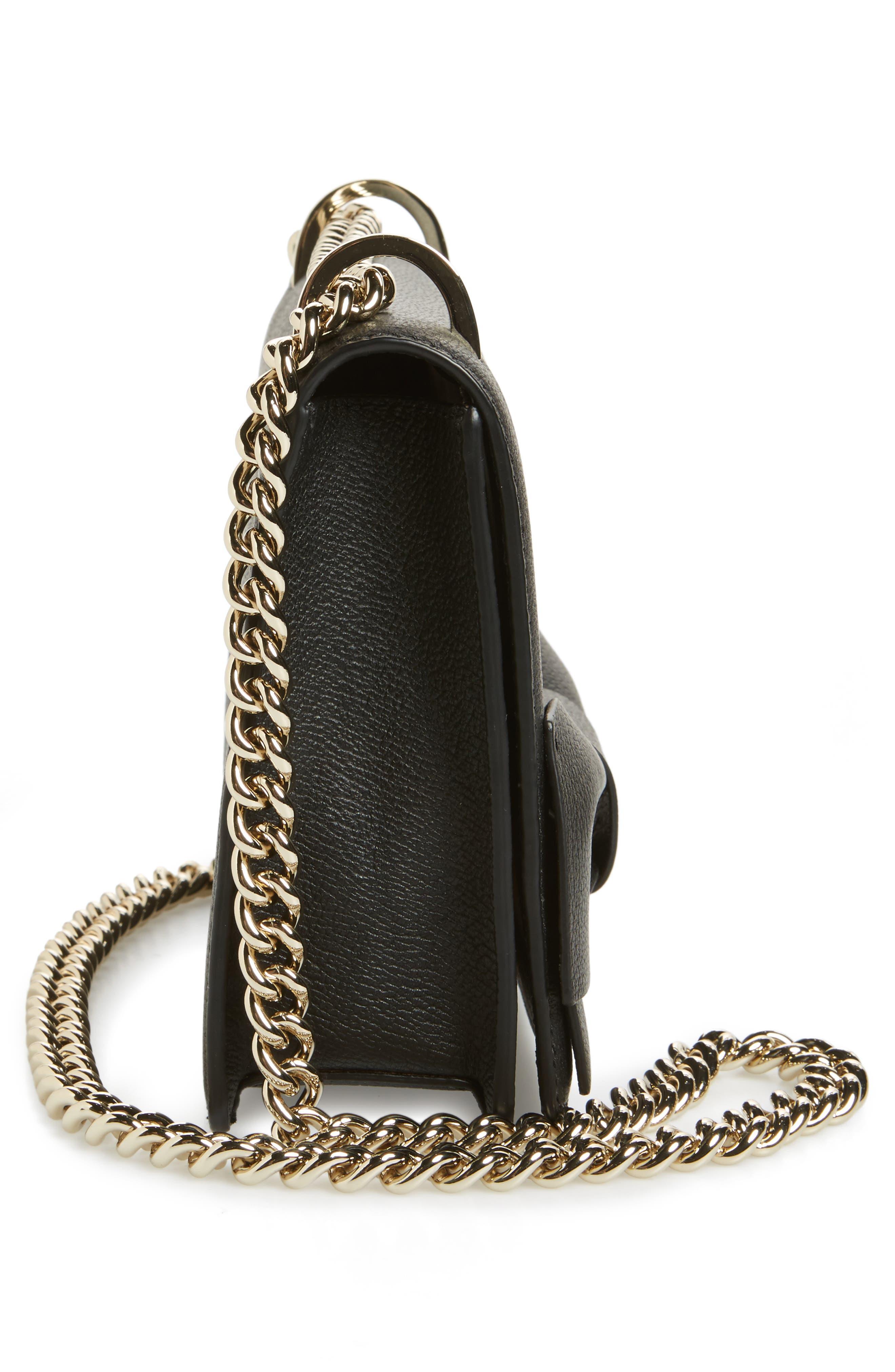olive drive - marci leather shoulder bag,                             Alternate thumbnail 5, color,                             001