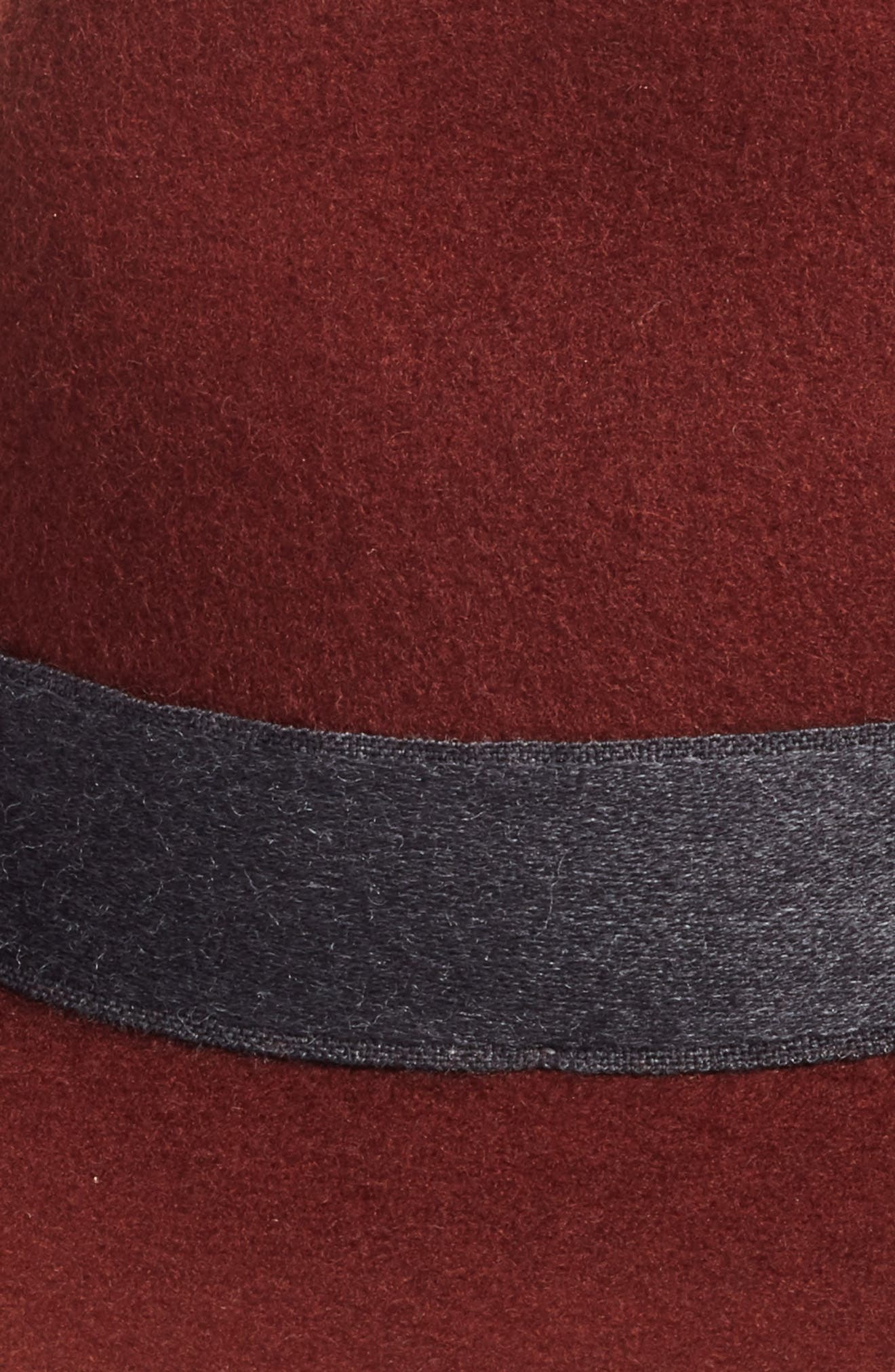 Brushed Wool Felt Fedora,                             Alternate thumbnail 4, color,
