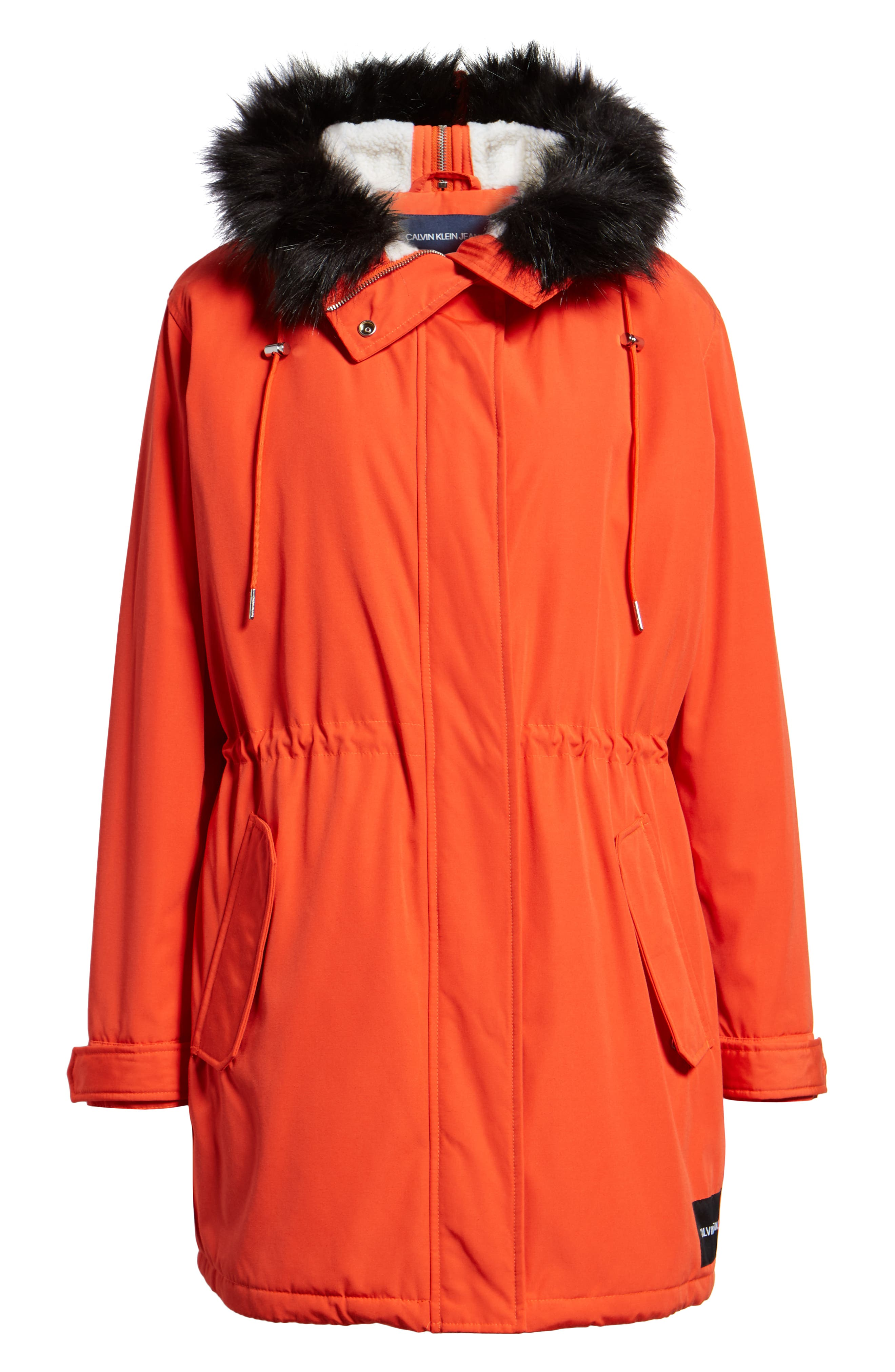 Faux Fur Trim Parka,                             Alternate thumbnail 7, color,                             600