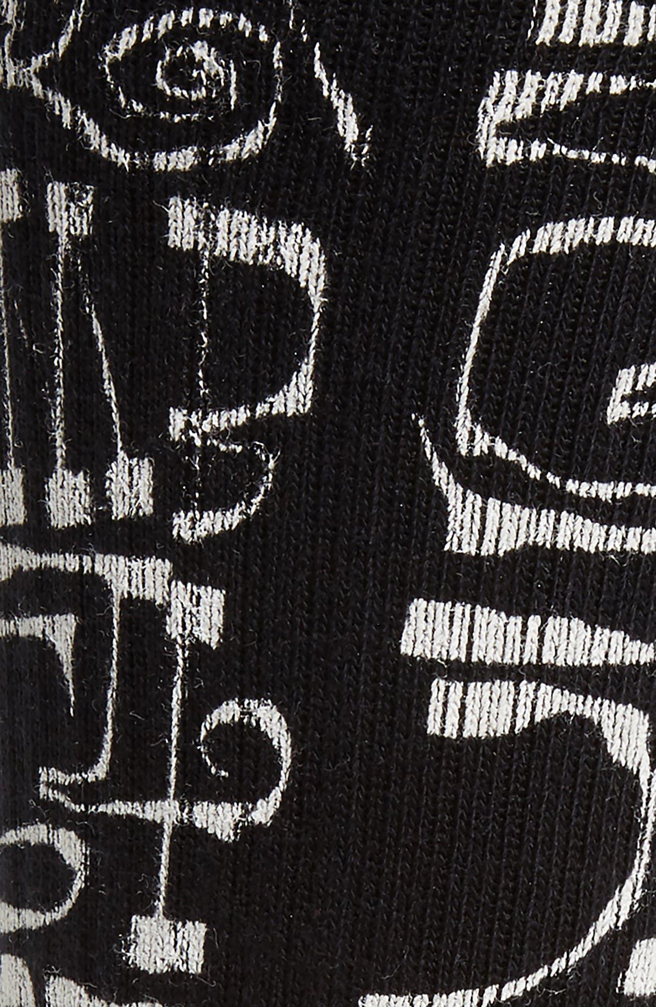 Frost Letters Socks,                             Alternate thumbnail 2, color,                             BLACK