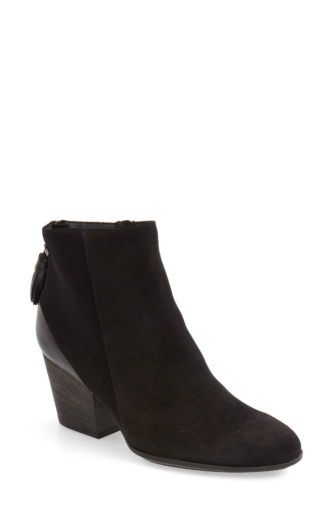 'Jada' Water Resistant Bootie,                             Main thumbnail 1, color,                             003