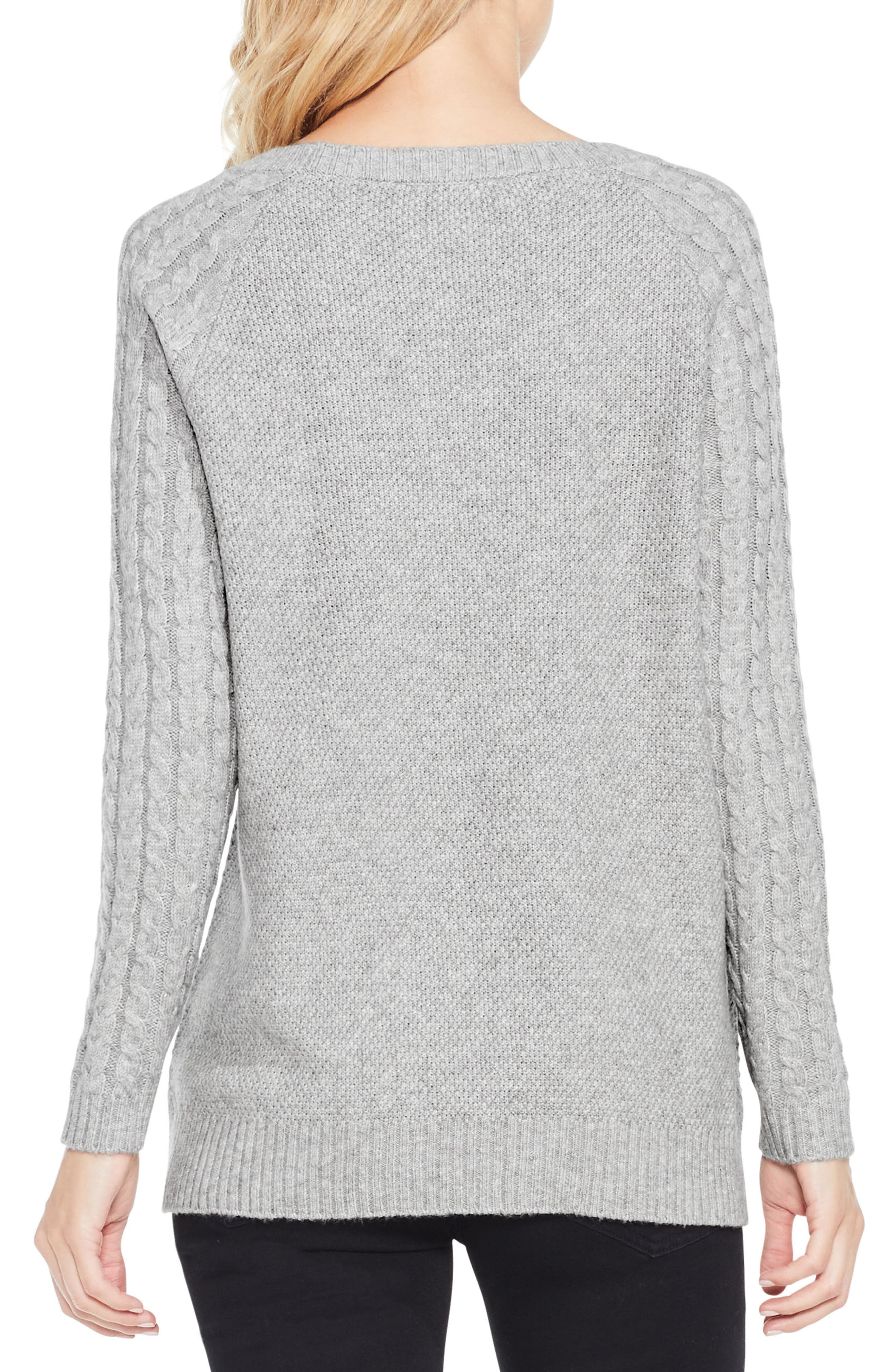 Mixed Stitch Sweater,                             Alternate thumbnail 7, color,