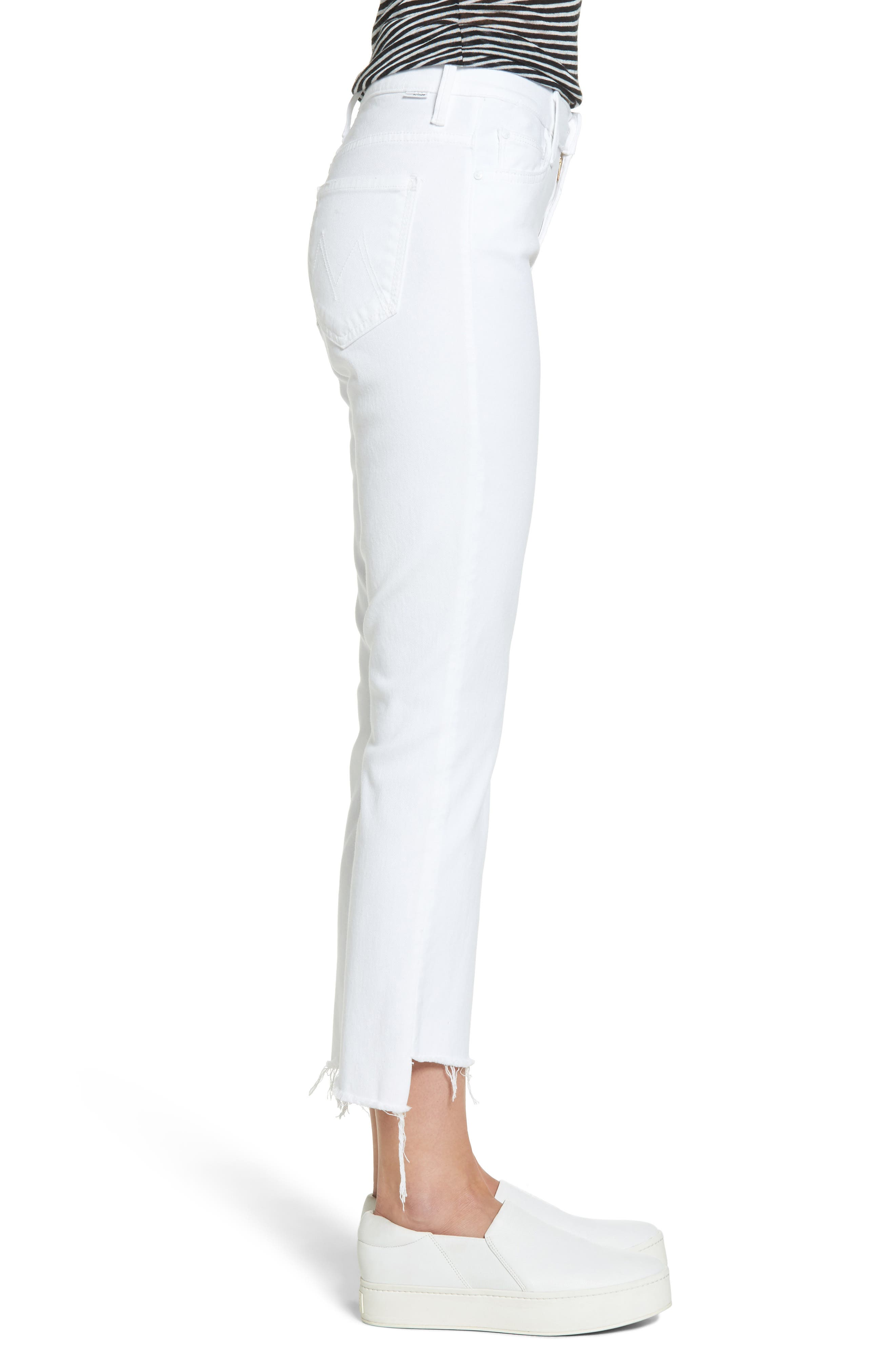 The Insider Step Hem Crop Bootcut Jeans,                             Alternate thumbnail 3, color,                             GLASS SLIPPER