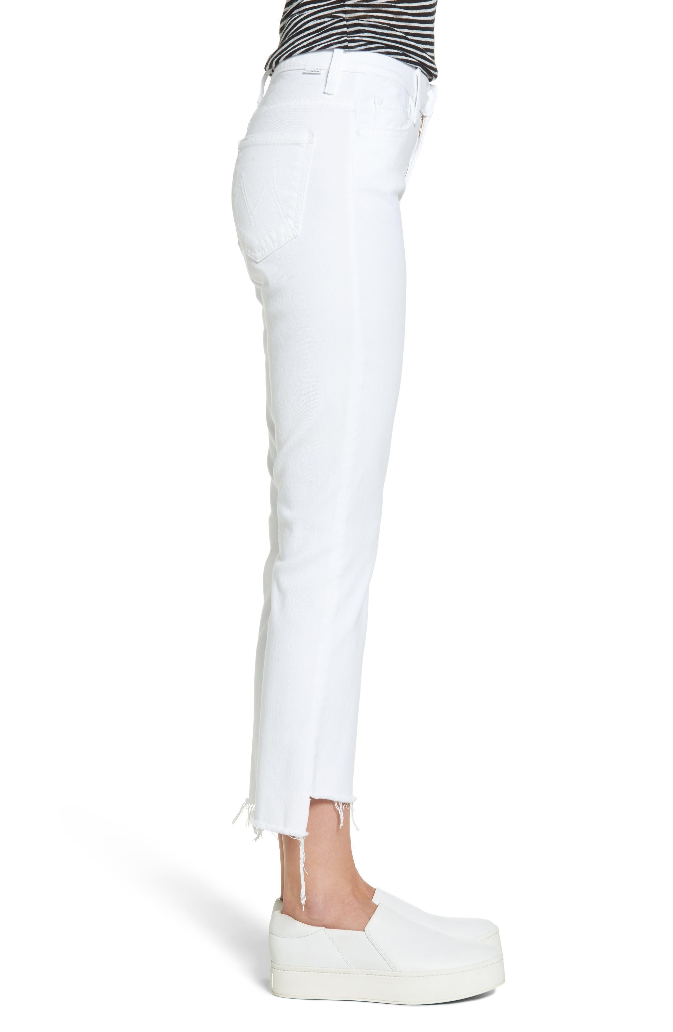 MOTHER,                             The Insider Step Hem Crop Bootcut Jeans,                             Alternate thumbnail 3, color,                             GLASS SLIPPER